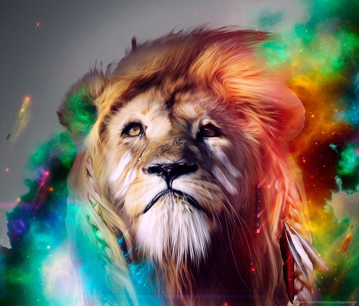 1200x1024 Colorful Lion Art for Samsung Galaxy Tab | wallpaper | Pinterest ...
