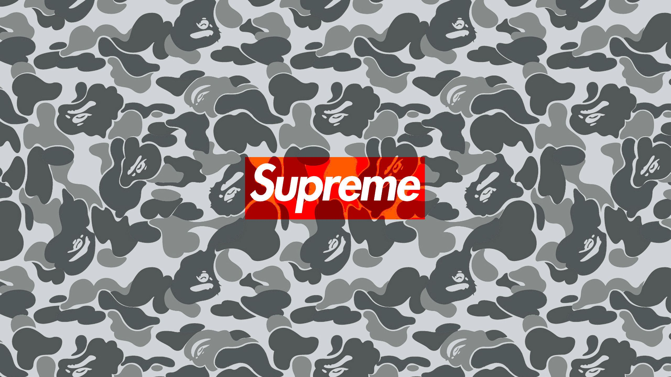 2560x1440 2560x1440 Download the Supreme Bape Camo wallpaper below for your ...