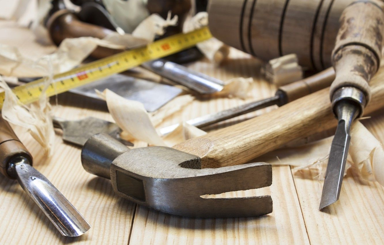 1332x850 Wallpaper wood, tools, carpentry images for desktop, section макро ...
