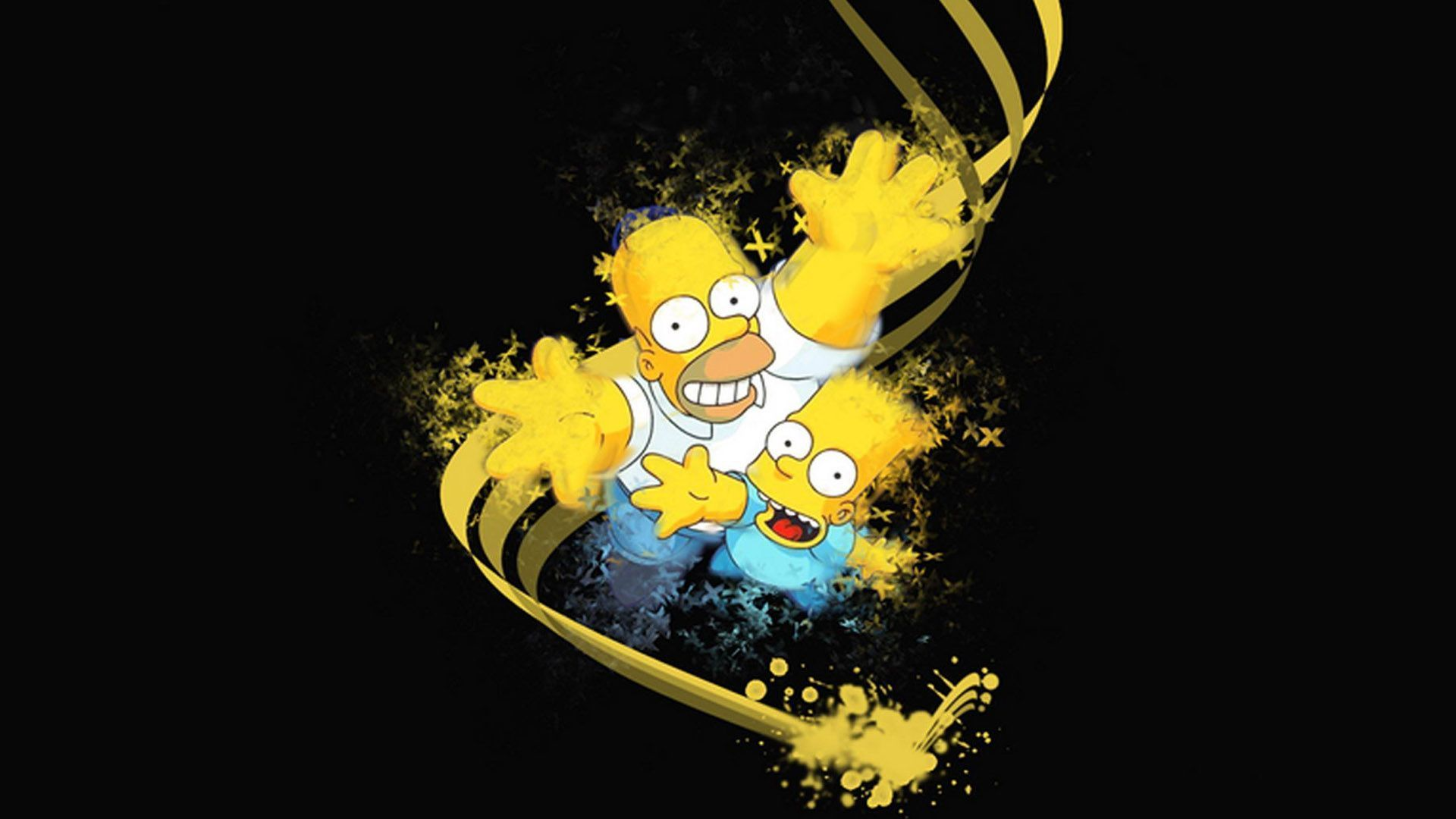 1920x1080 Homer Simpson Bart Simpson - Wallpaper, High Definition, High ...