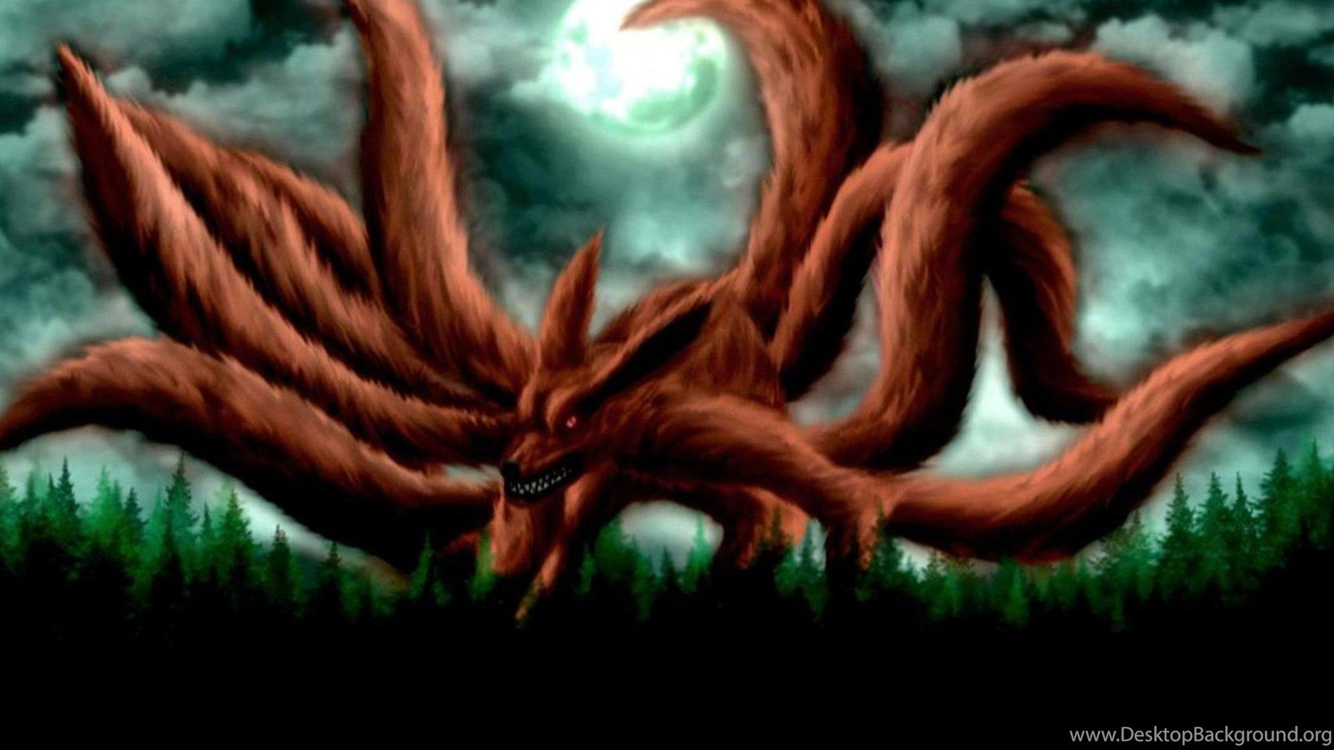 1920x1080 Naruto Nine Tails Wallpapers Wallpapers Cave Desktop Background