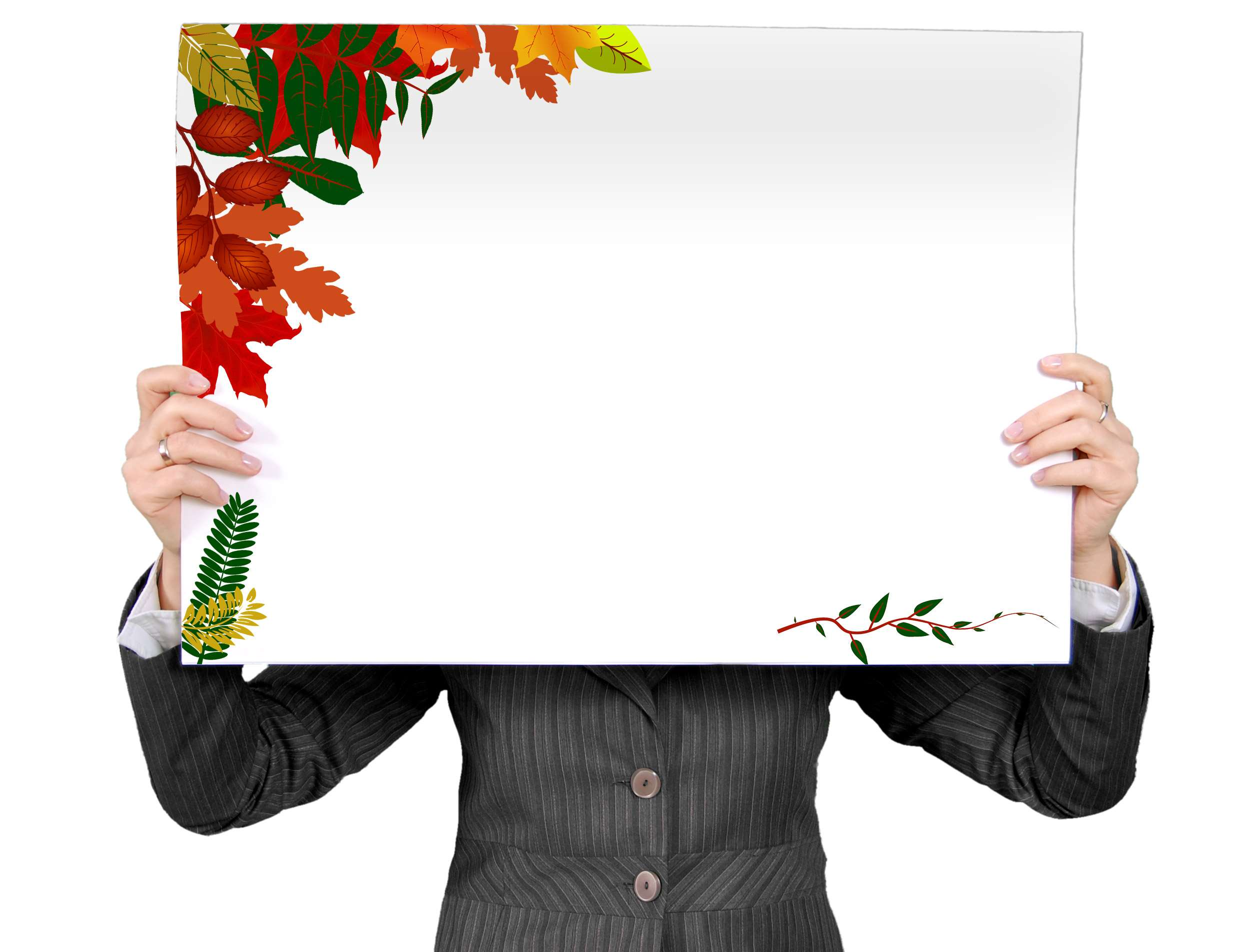 2468x1904 autum, background, blank, blank sign, burlap, business woman ...