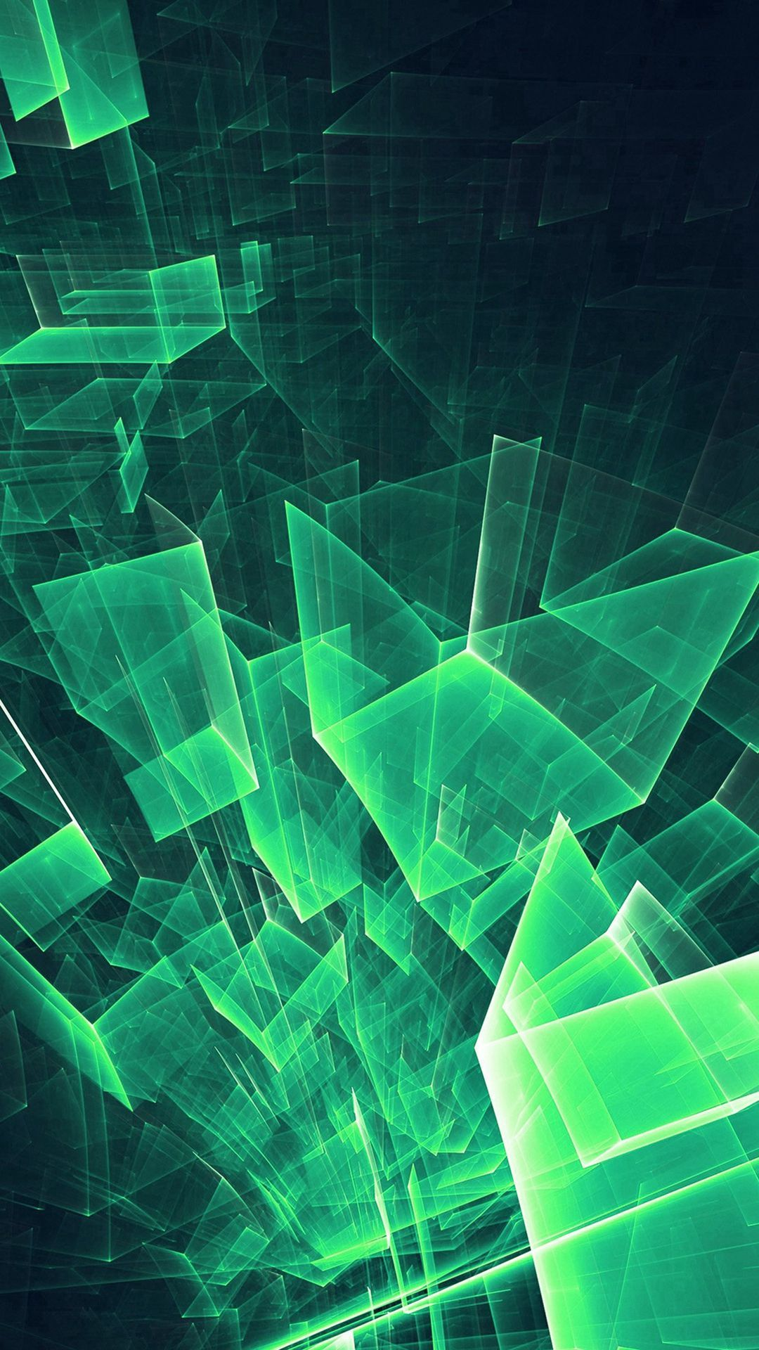 1080x1920 Abstract Blue Green Cube Pattern #iPhone #7 #wallpaper ...