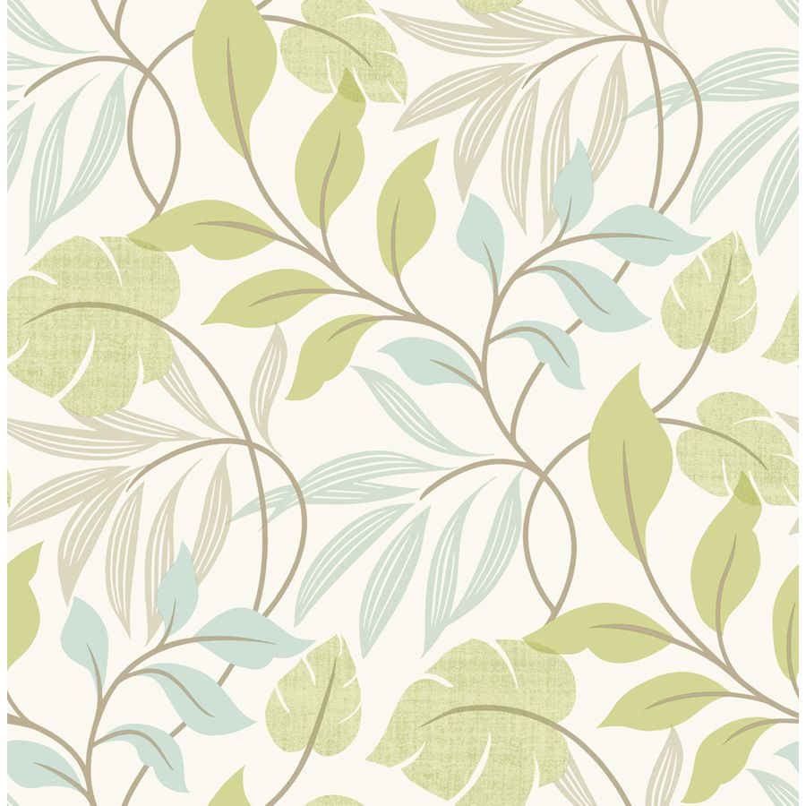 900x900 Brewster Wallcovering 33-sq ft Blue Green Non-Woven Ivy/Vines ...