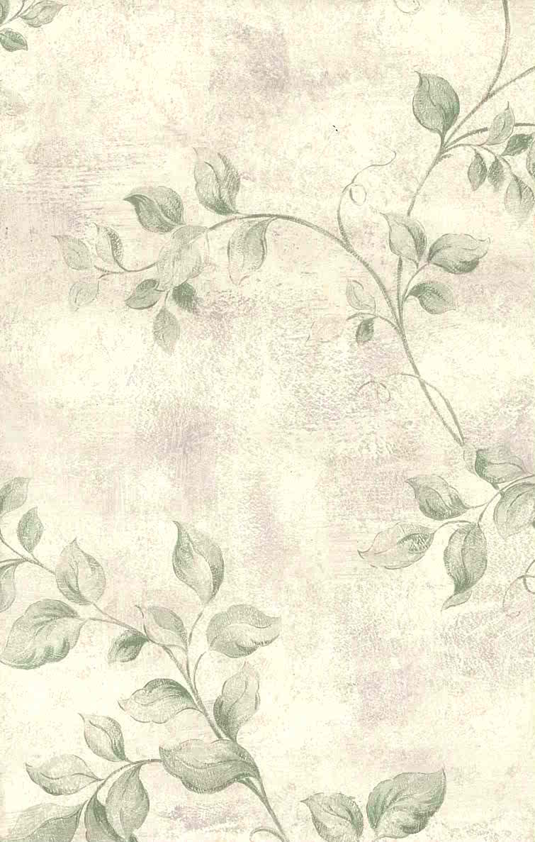 755x1187 Green Vining Leaves Vintage Wallpaper Lavender 72372 D/Rs
