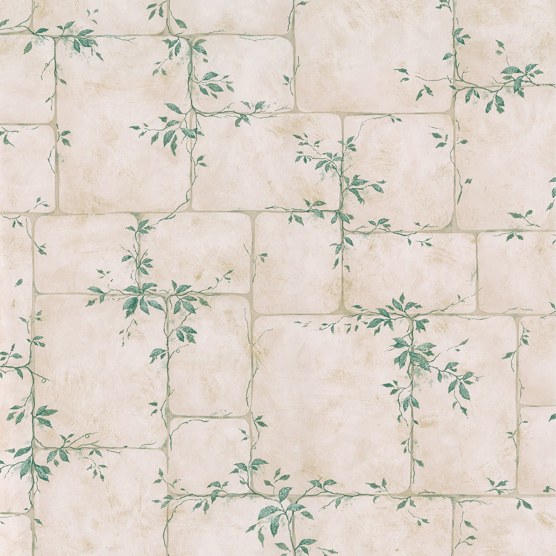 1791x1791 This gorgeous cream wallpaper from Brewster displays lush green ...