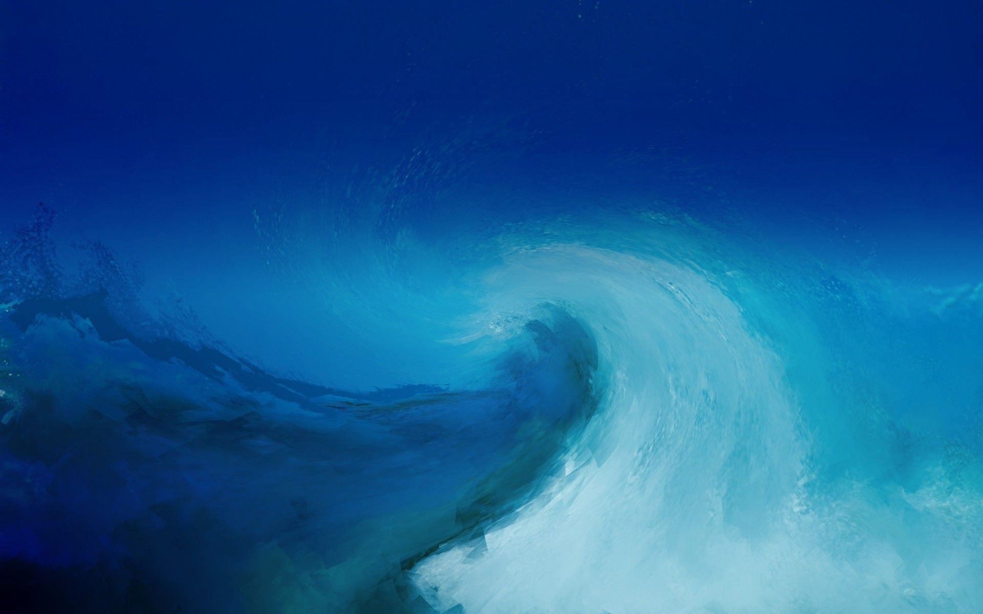 1920x1200 Wave painting texture blue light blue white ocean sea water storm ...
