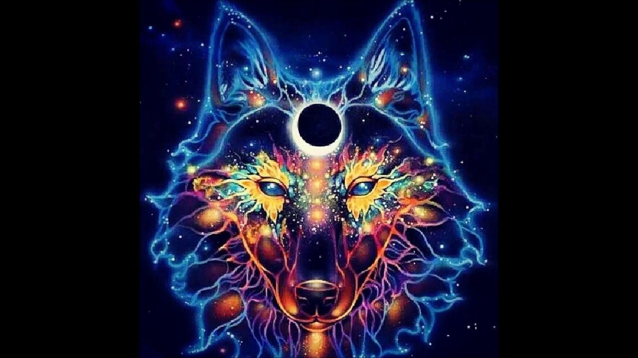 1280x720 Trippy Wolf Wallpaper | www.topsimages.com