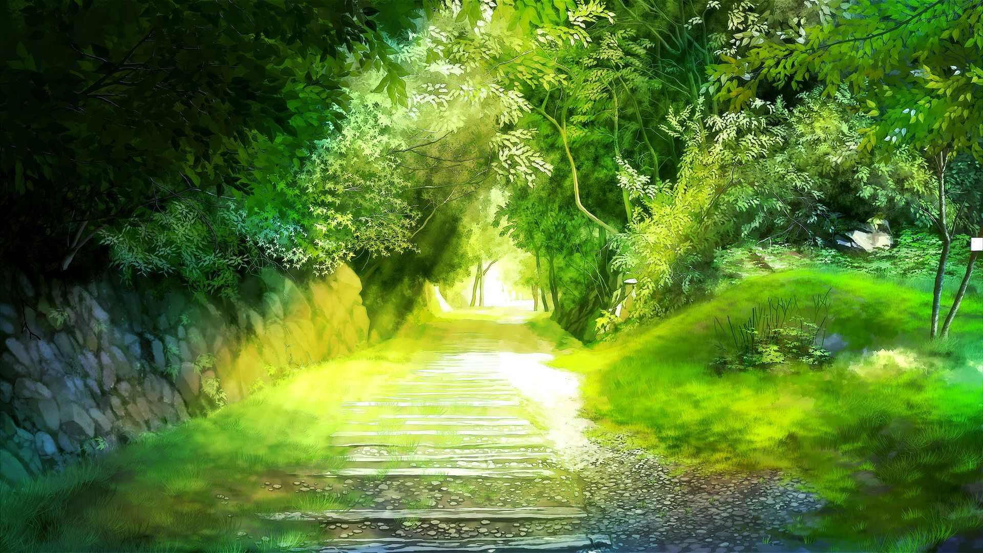 1920x1080 Nature Anime Scenery Background Wallpaper | Resources: Wallpapers ...