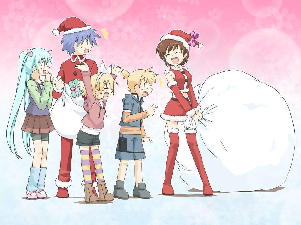 1024x768 Hatsune Miku images Vocaloids Christmas HD wallpaper and background ...