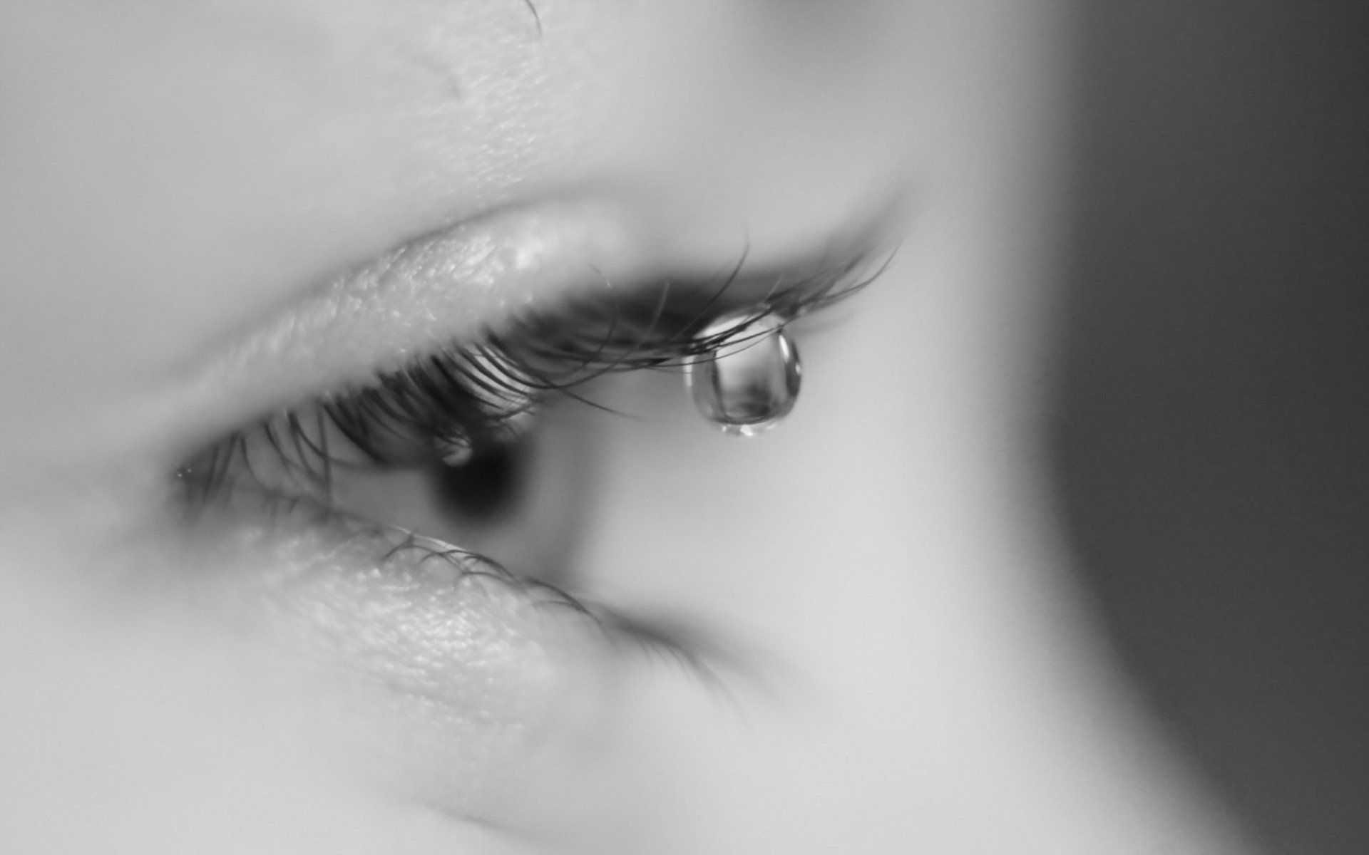 1920x1200 tears close up mood HD wallpaper