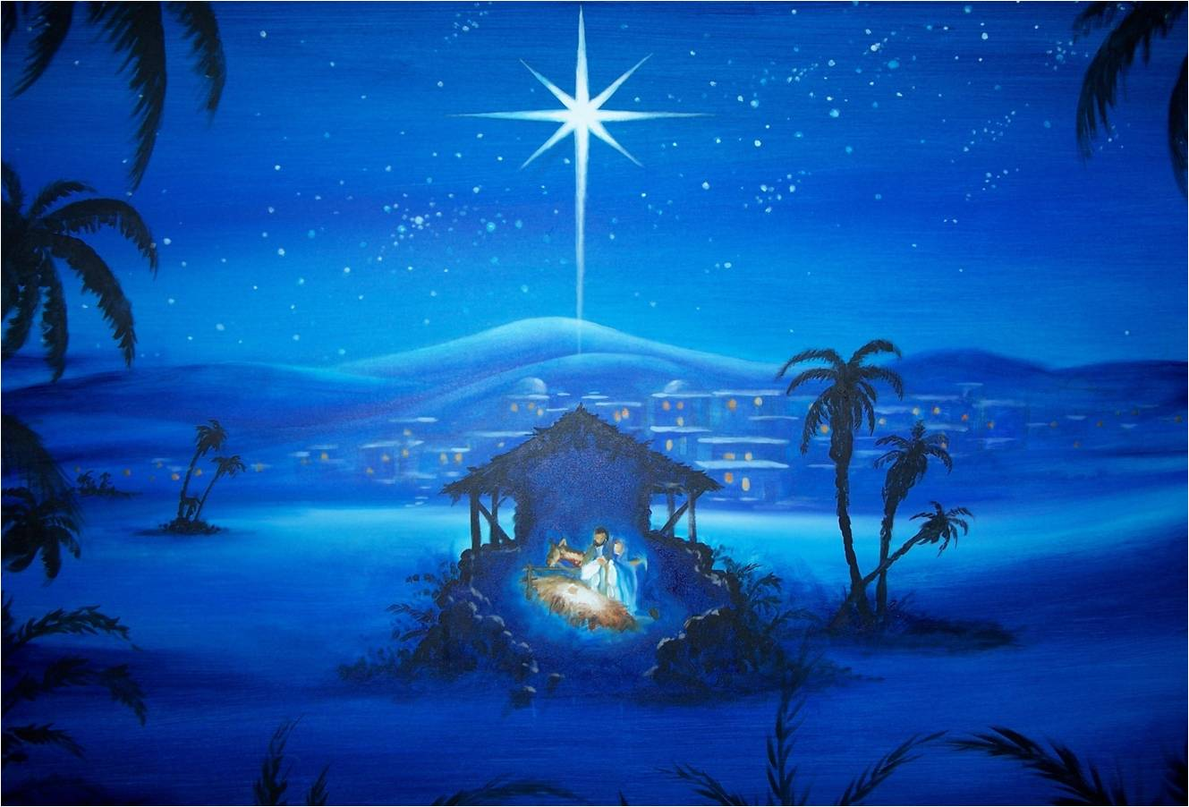 1329x902 Nativity Scene Wallpaper | Christmas Painting Computer Wallpapers ...