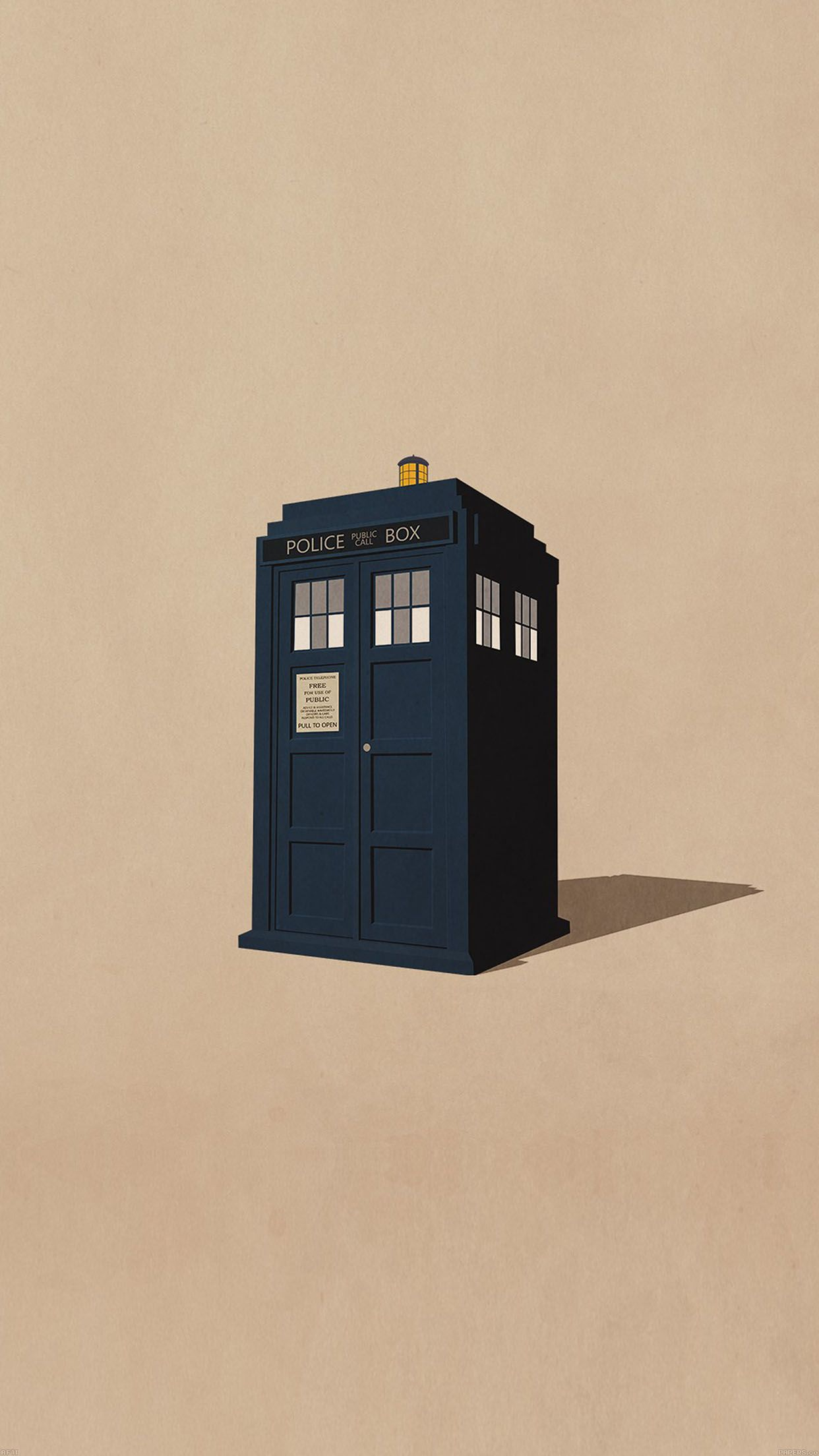 1242x2208 iPhone6papers - af11-police-box-public-illust