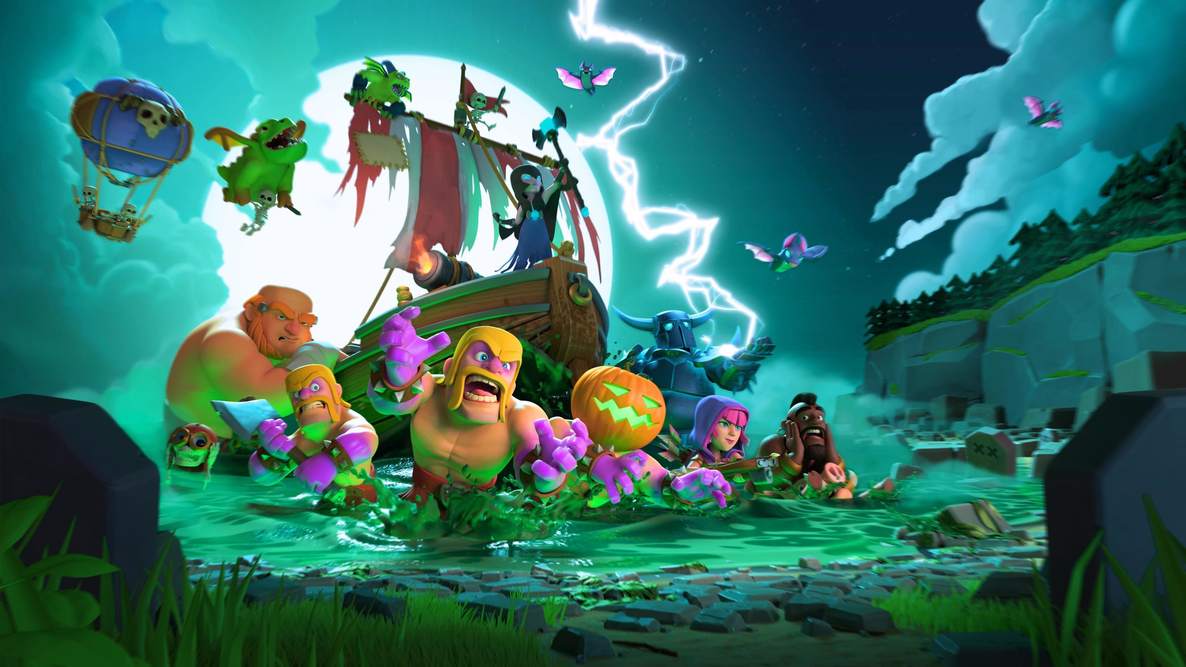 3840x2160 Download 3840x2160 wallpaper clash of clans, mobile game, halloween ...