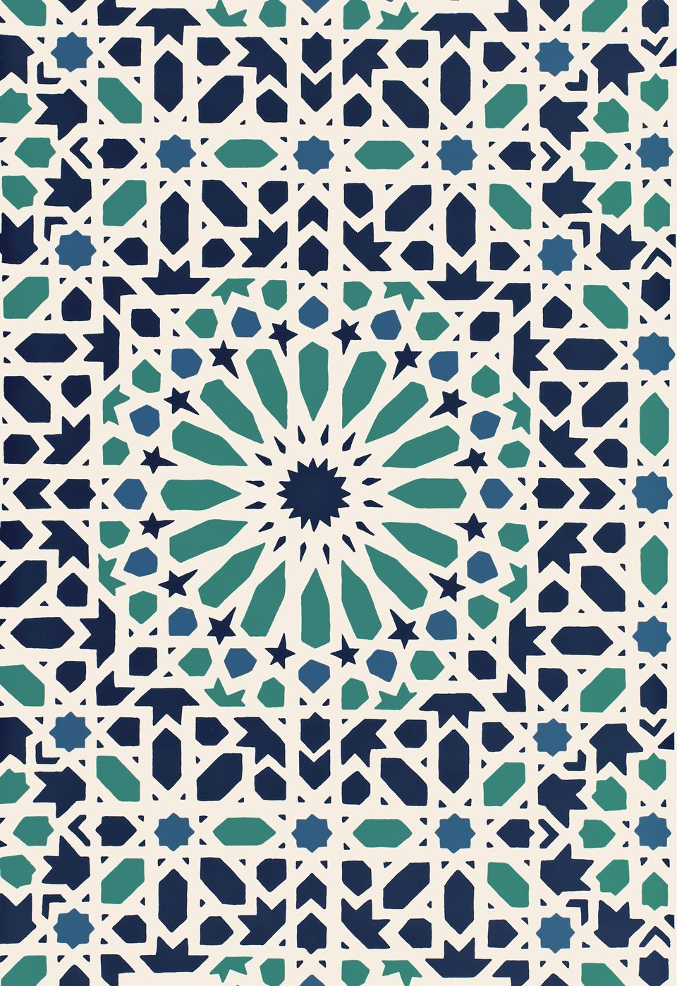 960x1398 Nasrid Palace Mosaic Flower Wallpaper | Byzantium | Wallcoverings ...
