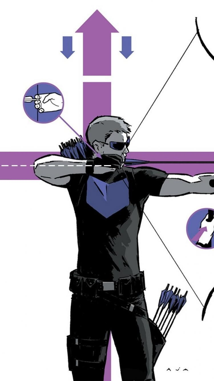 750x1334 Comics marvel hawkeye now david aja wallpaper | (127738)