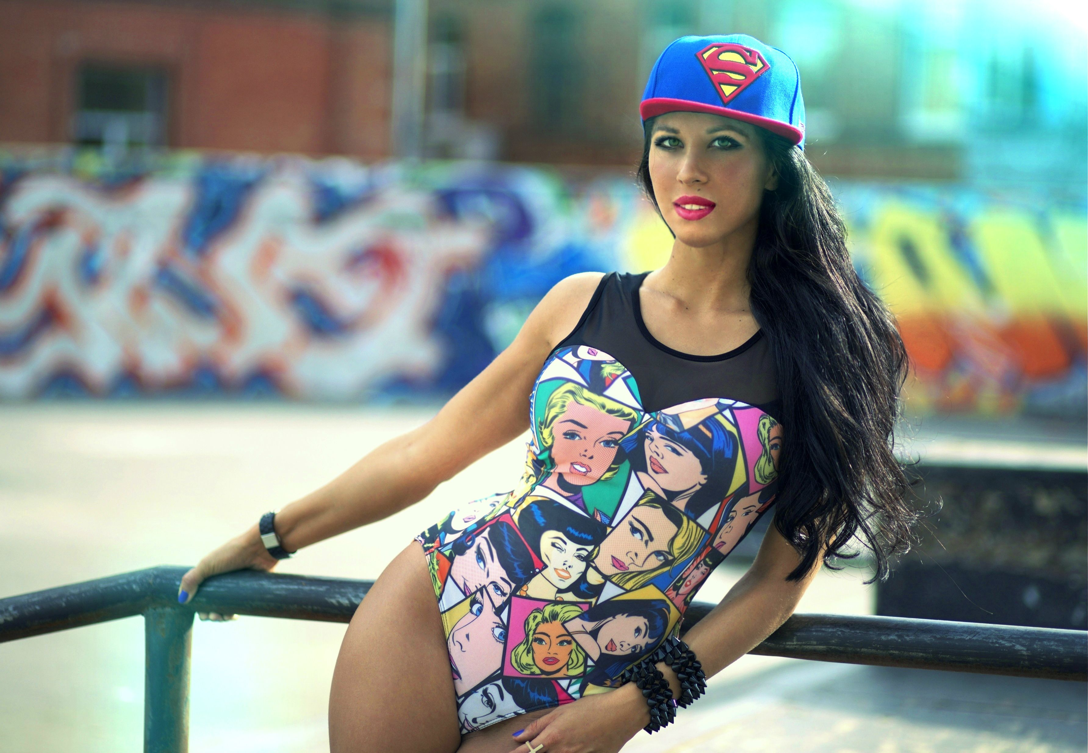 3567x2470 The girl wearing a cap superman, swag wallpapers and images ...