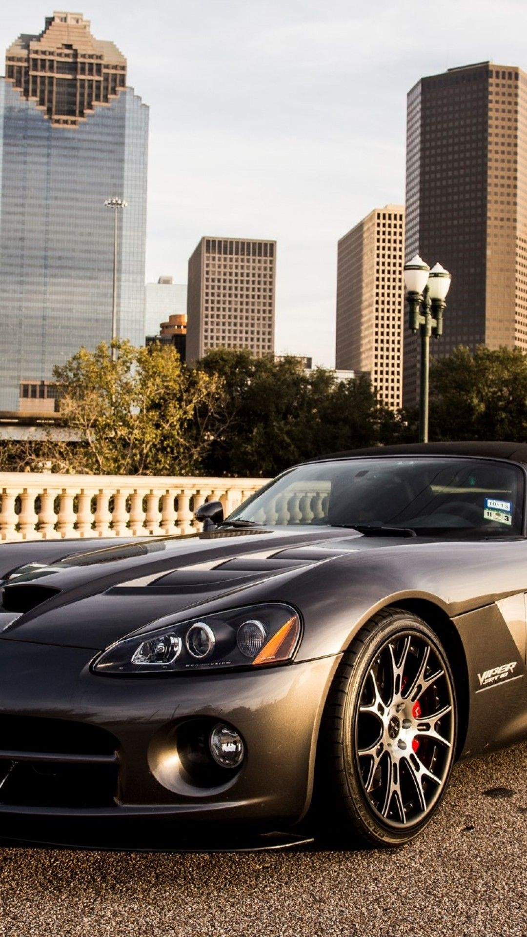 1080x1920 Download 1080x1920 Dodge Viper Convertible, Grey, Front View, Sport ...