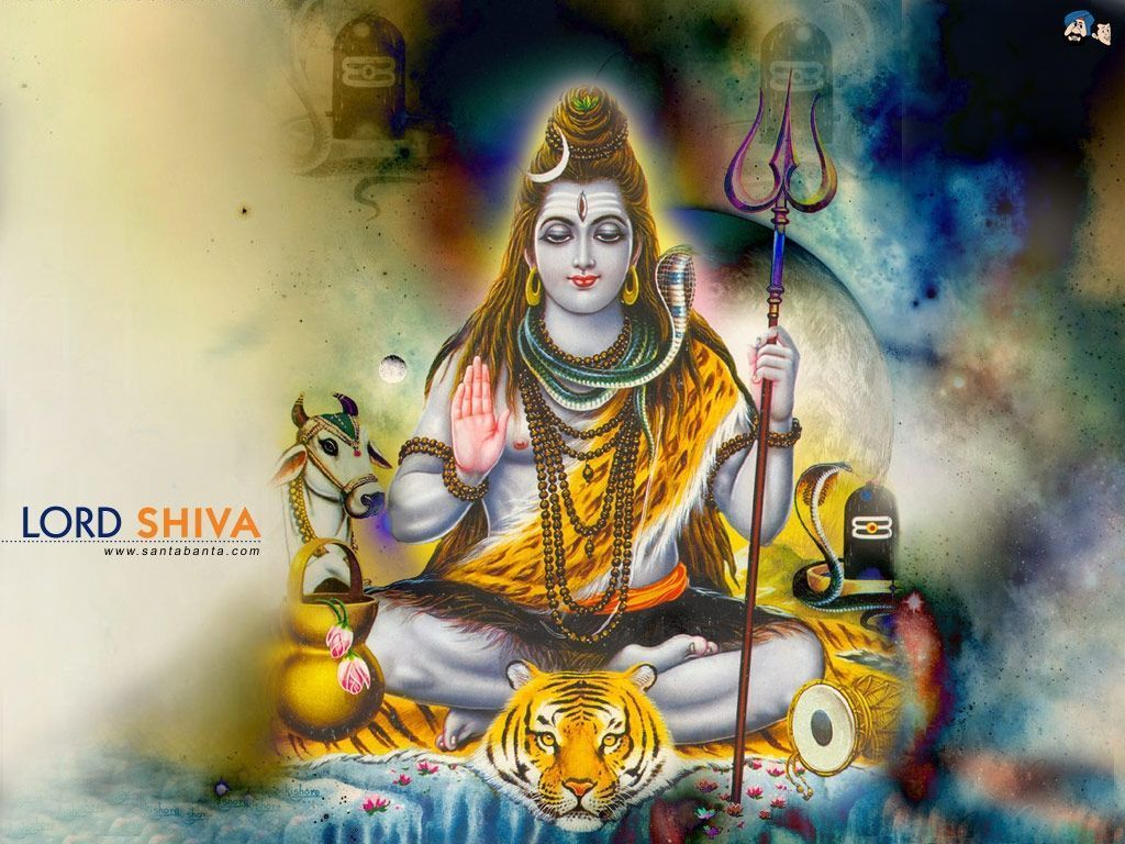 1024x768 Lord Shiva 3D Wallpapers
