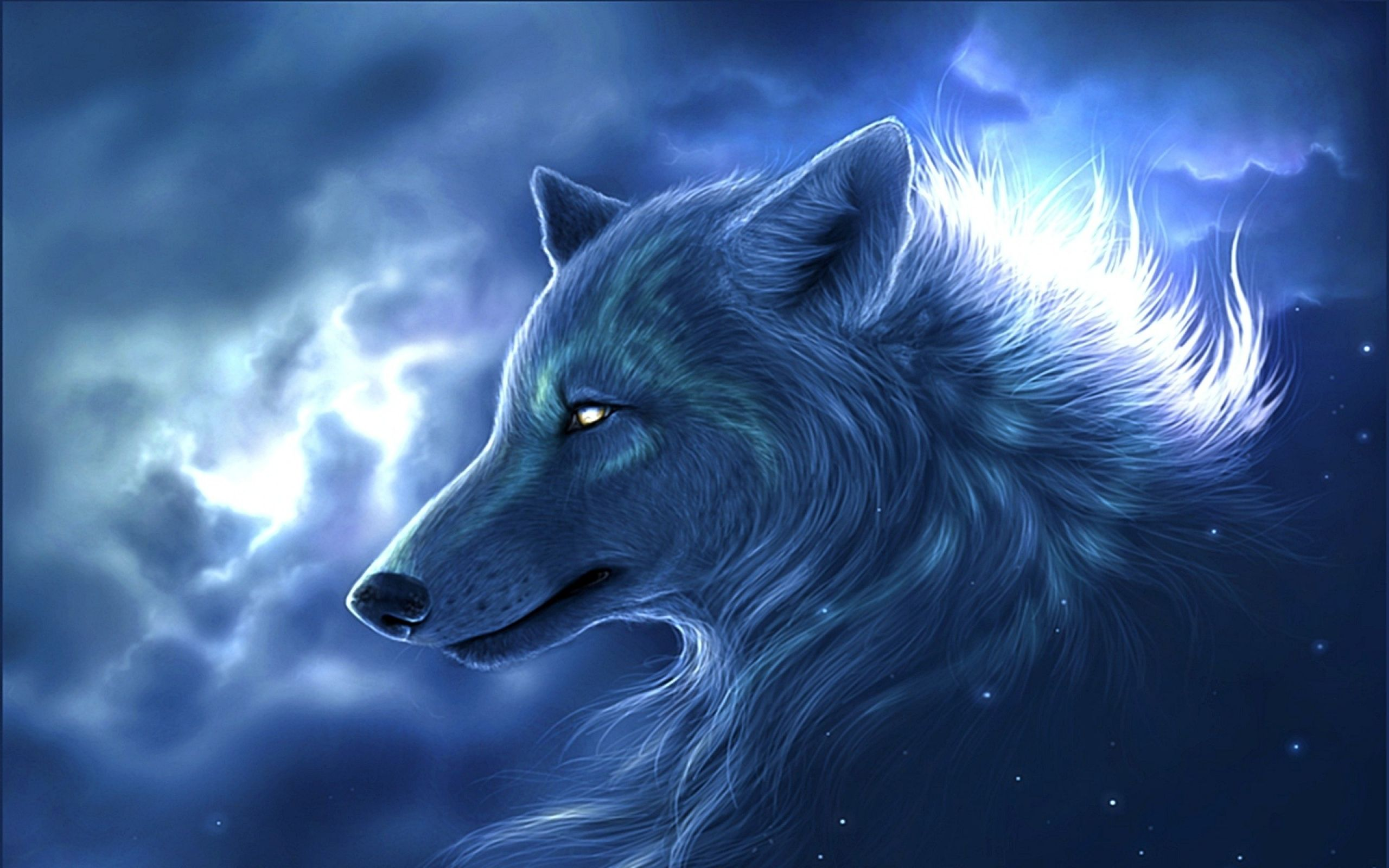 2560x1600 Fantasy Wolf Wallpaper HD #7035707