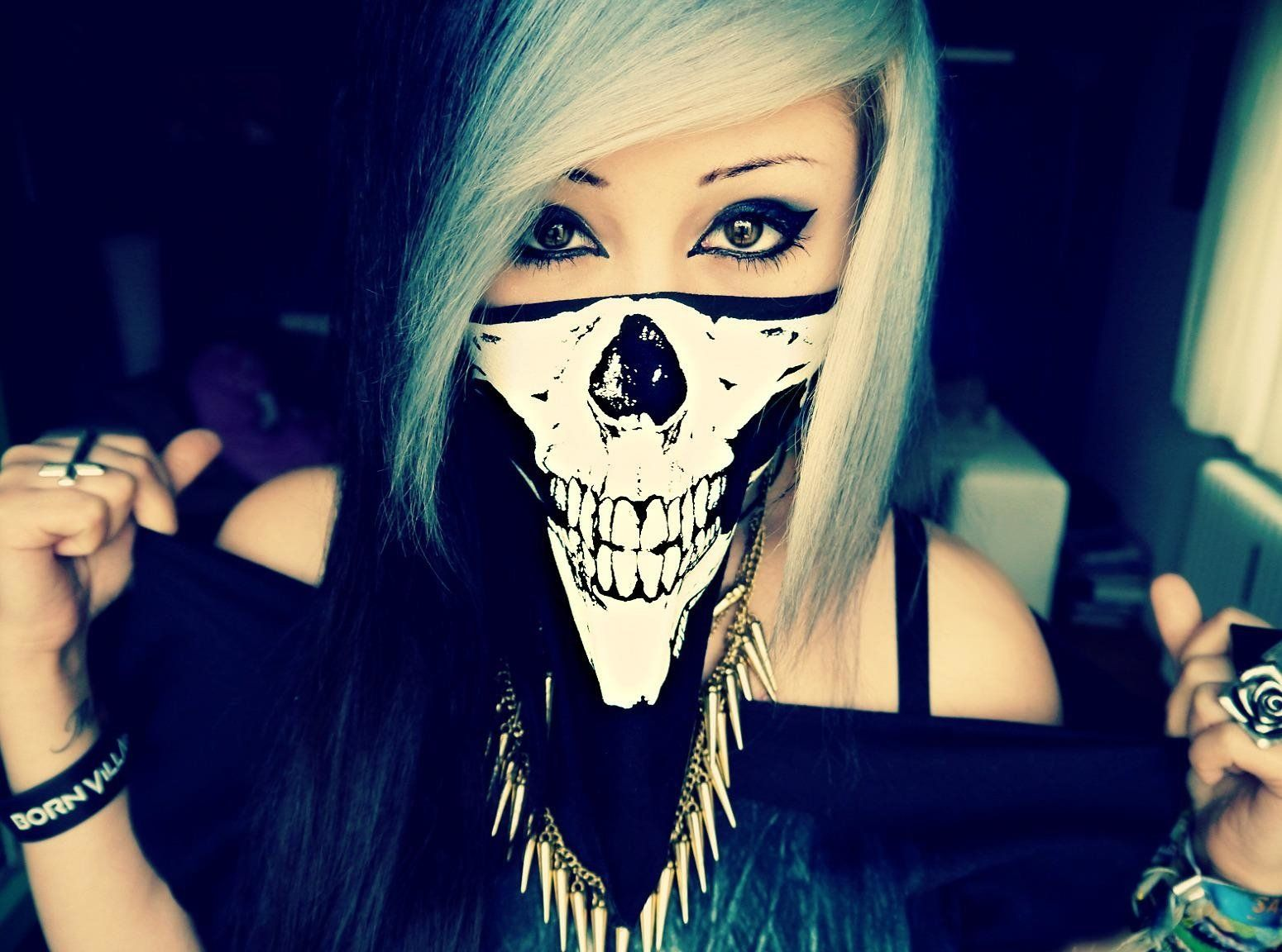 1550x1152 Emo Girl Skull Wallpaper and Background Image   1550x1152   ID ...