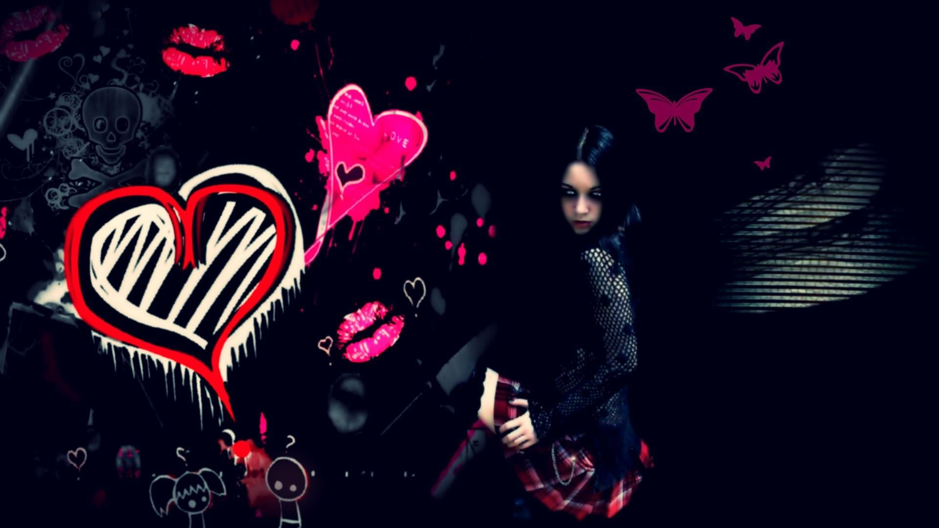 1920x1080 Cute Emo Backgrounds ·①