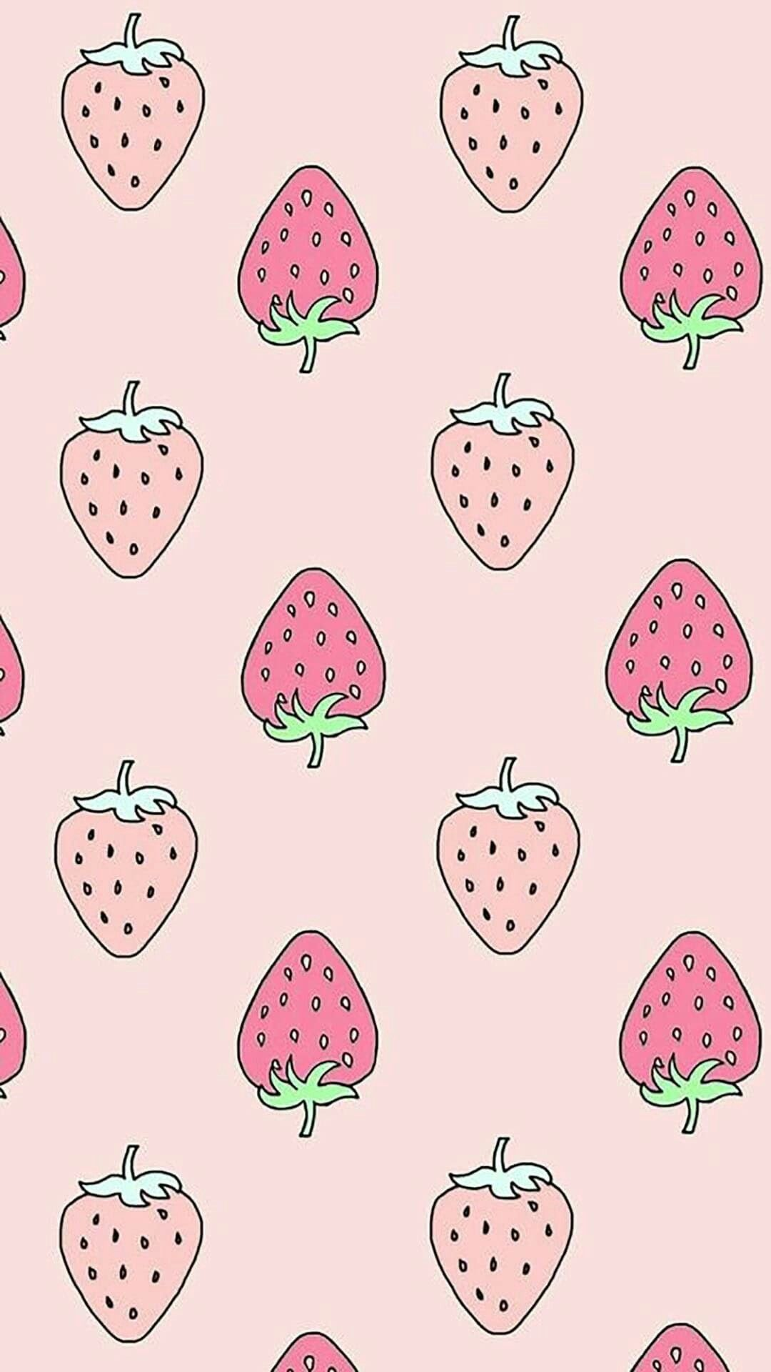 1080x1920 62+ Kawaii Strawberry Wallpapers on WallpaperPlay