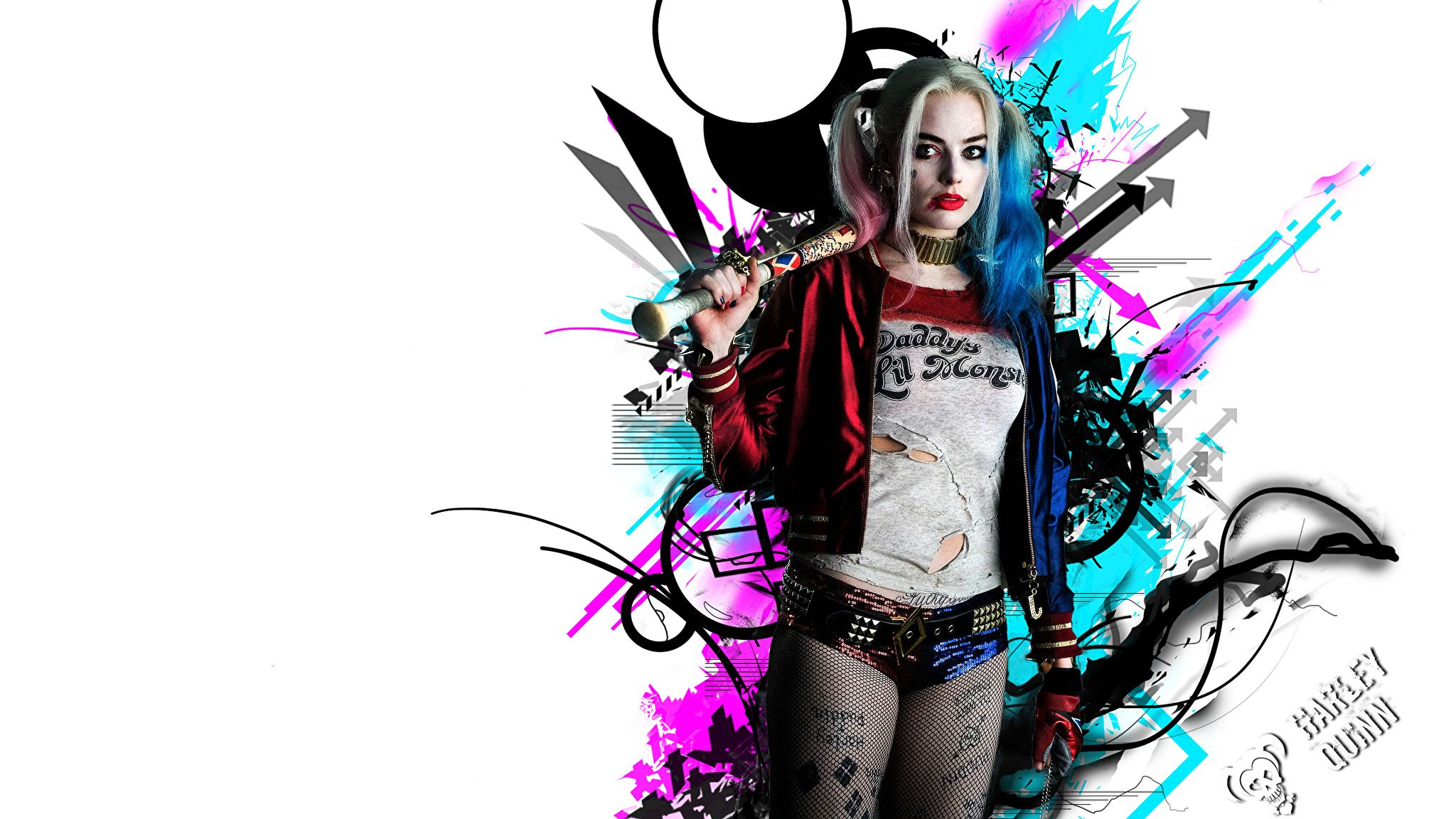 2048x1152 Images Suicide Squad 2016 Margot Robbie Blonde girl Harley 2048x1152