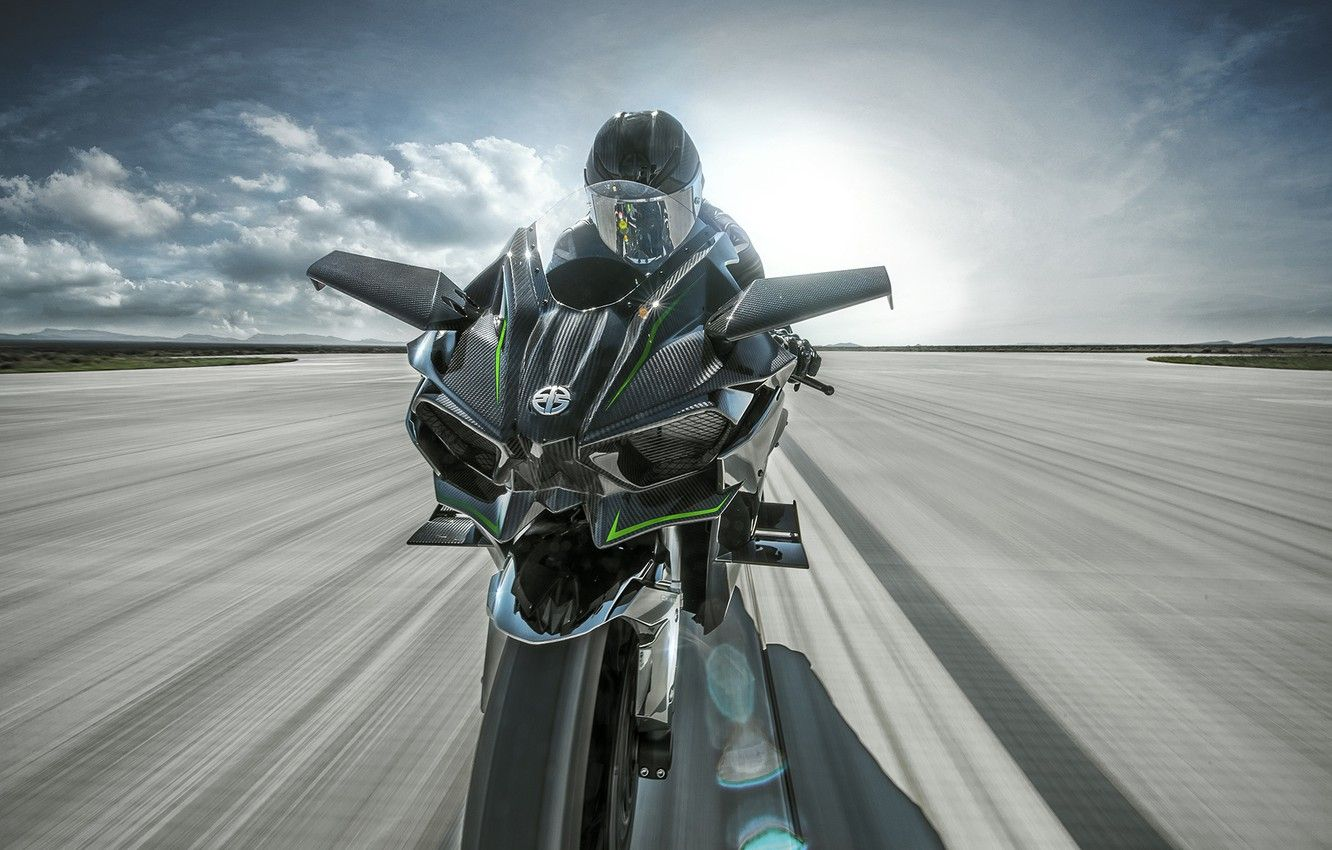 1332x850 Wallpaper Kawasaki, moto, bike, power, motorcycle, speed, track ...