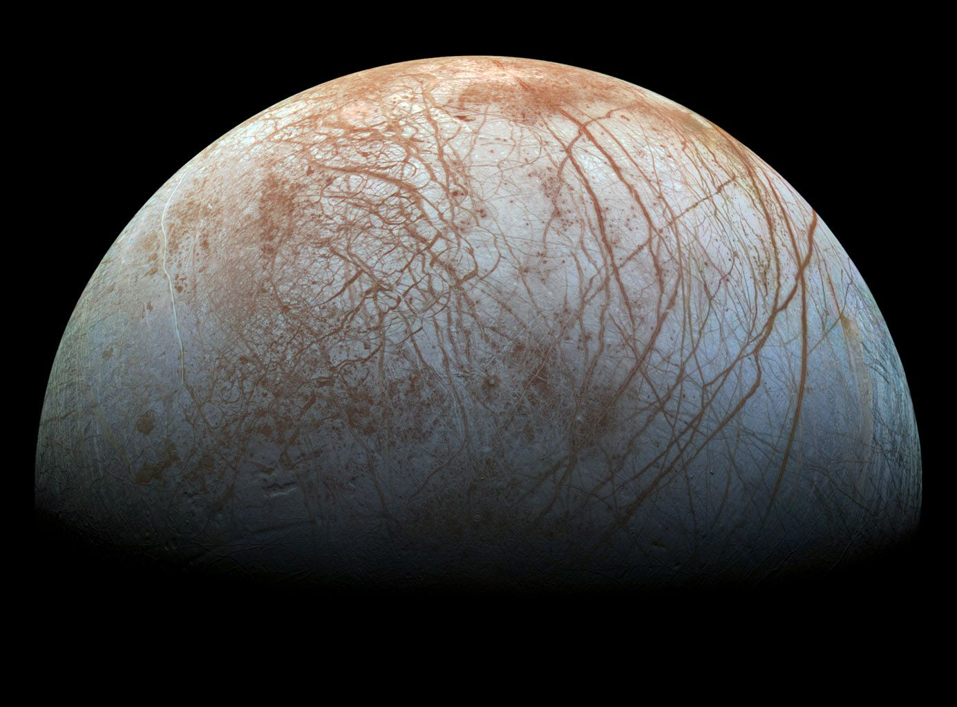 1385x1024 Space Images | Europa's Stunning Surface