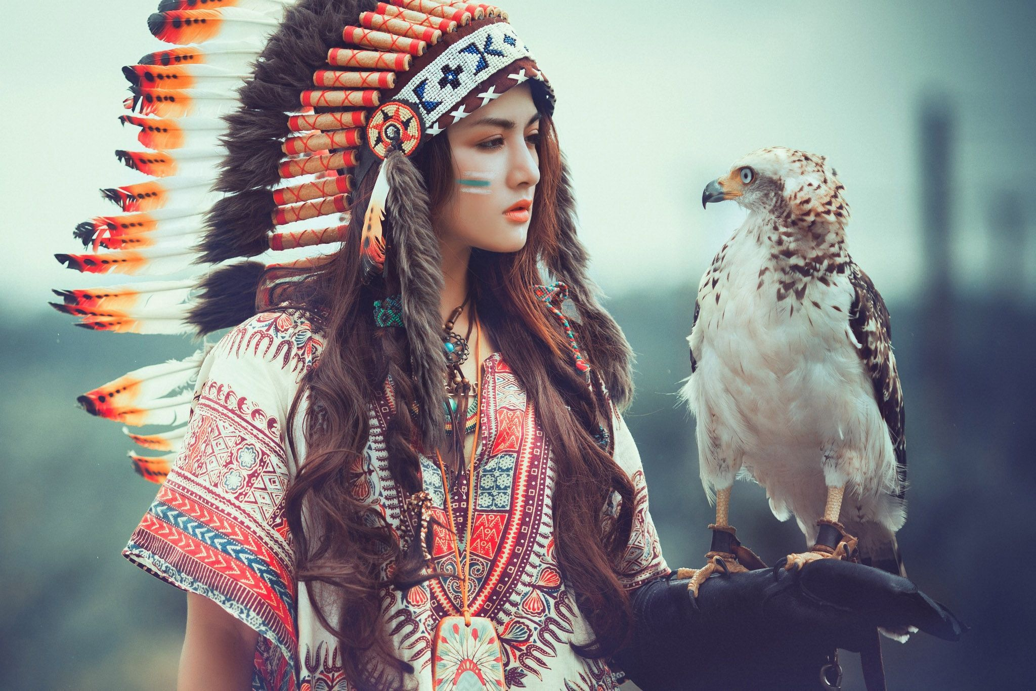 2048x1366 Beautiful Girl - American Indian Style Version 2.0 - Beautiful Girl ...