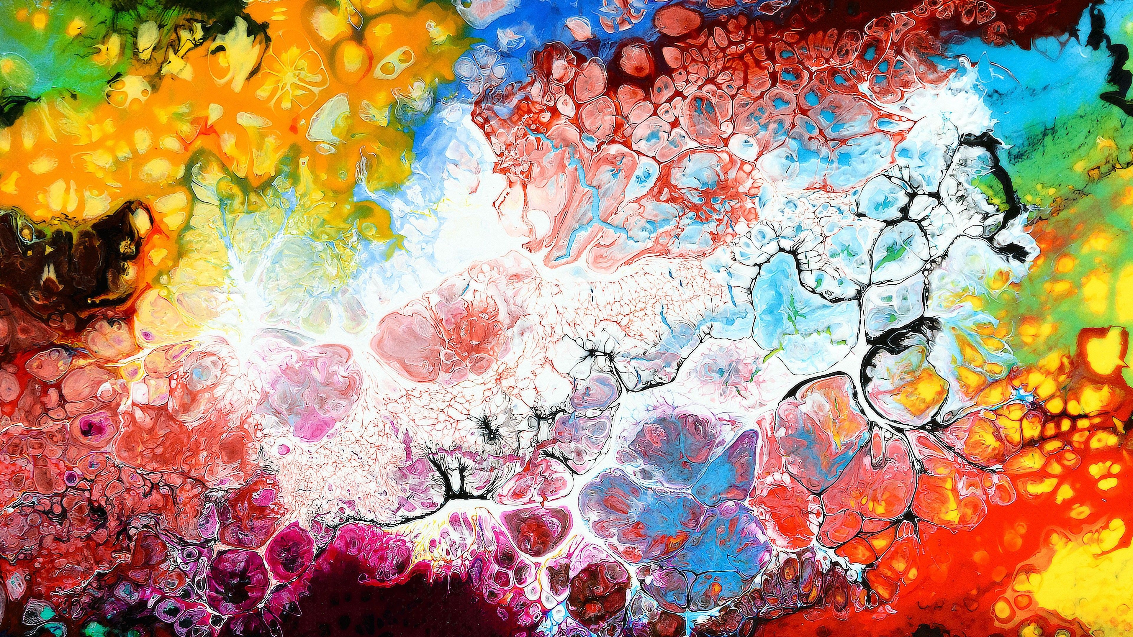 3840x2160 Colorful Texture Art Abstract 4K Wallpaper | HD Wallpapers