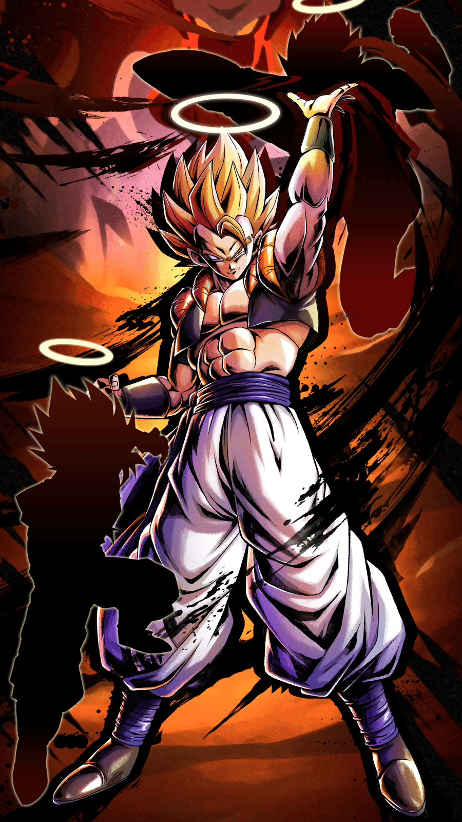 900x1600 Saw the Gogeta wallpaper and was inspired to make this wallpaper ...