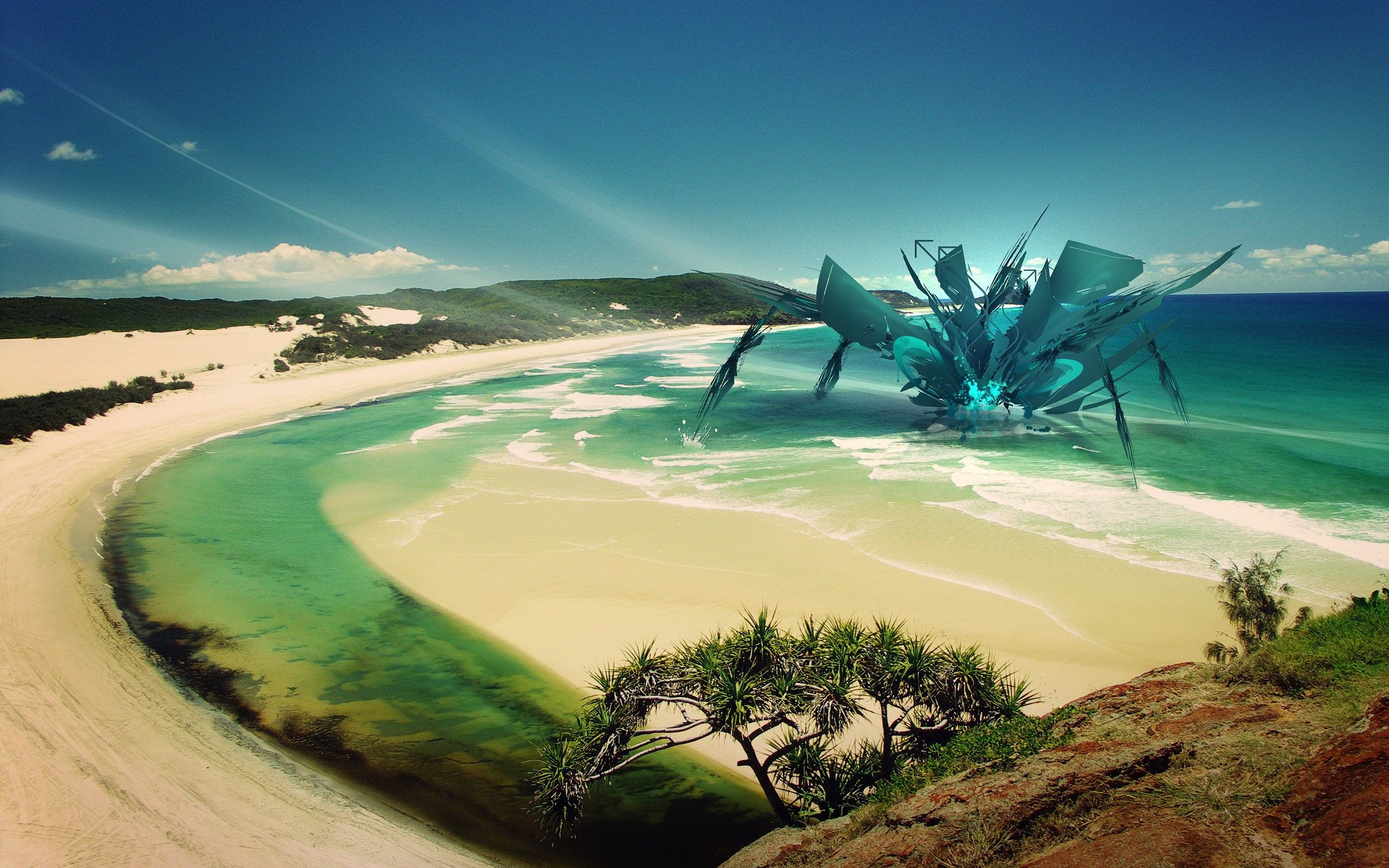 2560x1600 Download Odd Ocean Structure Abstract Wallpaper 2560x1600 ...