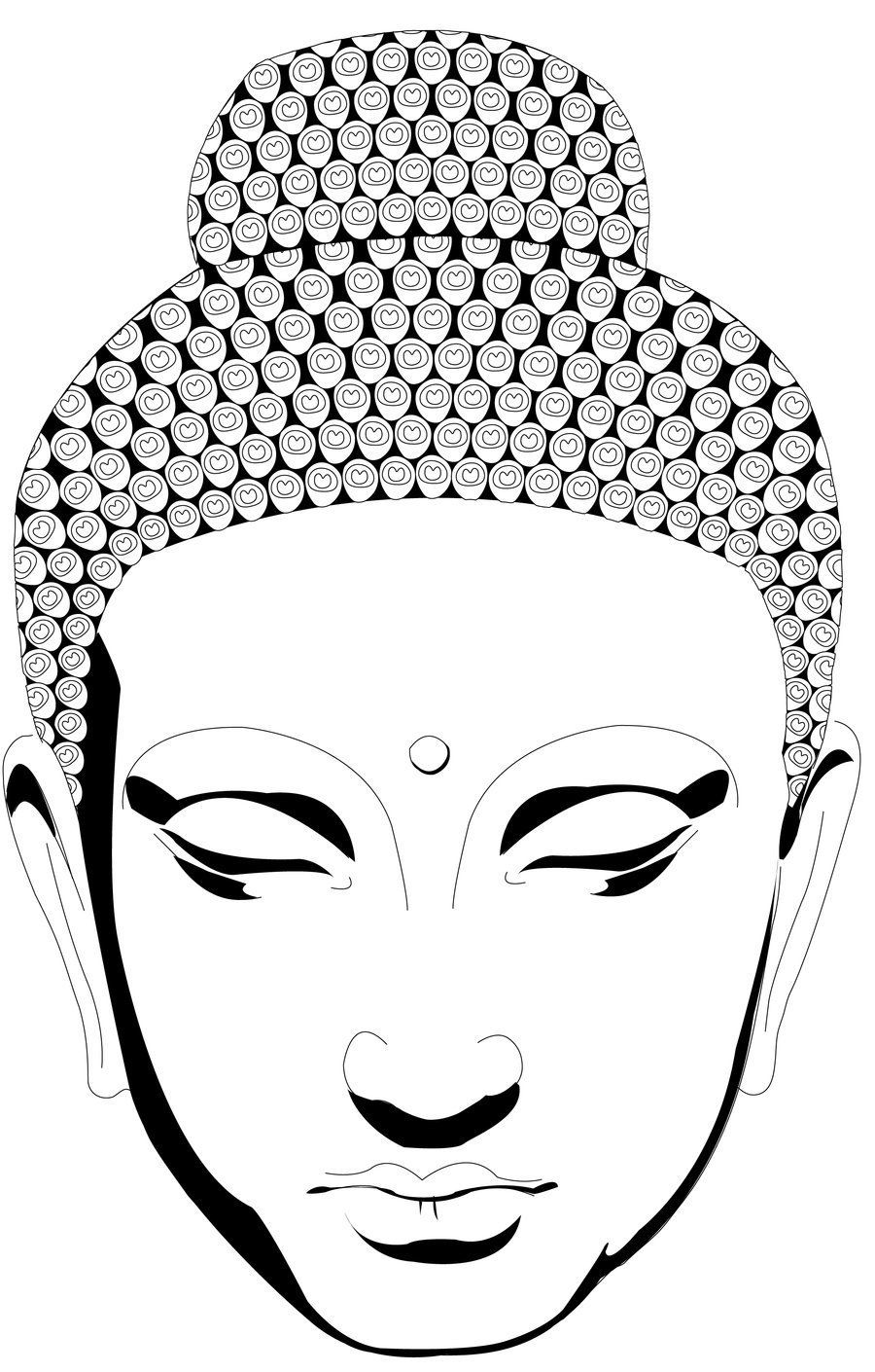 900x1410 Buddha Face Coloring Pages | Go Back > Images For > Simple Buddha ...