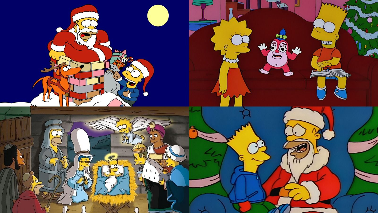 1600x900 D'oh! D'oh! D'oh! 16 Simpsons Christmas Episodes, From Naughty to Nice