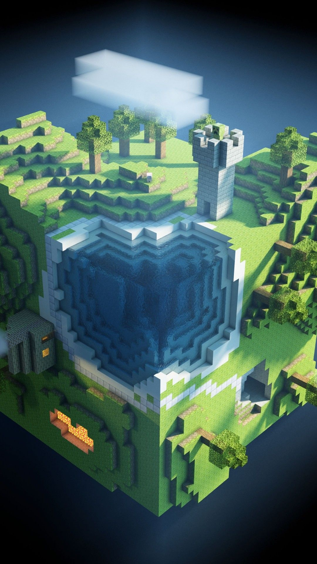 1080x1920 75+ Minecraft Background Wallpapers on WallpaperPlay