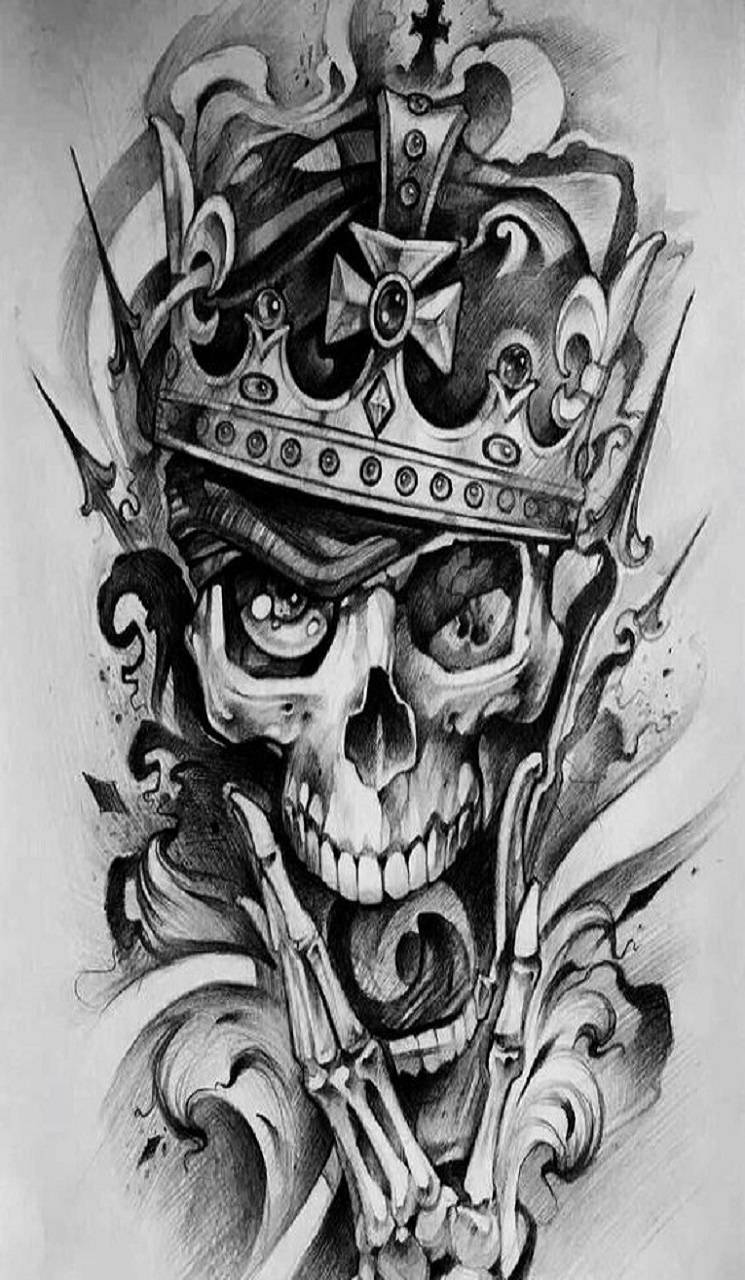 745x1280 skull king Wallpaper by whiskylover98 - c6 - Free on ZEDGE™