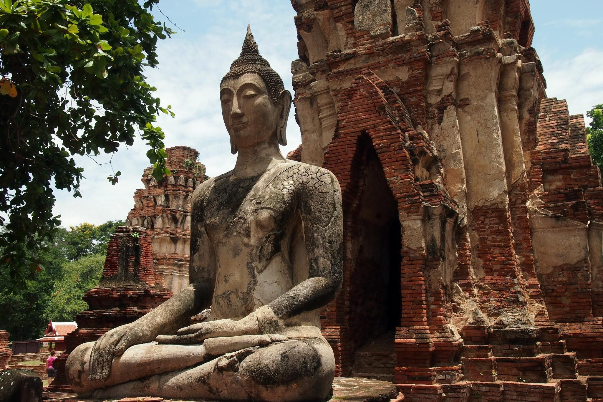 2048x1365 Landscapes trees ruins buddha buddhism thailand statues temple ...