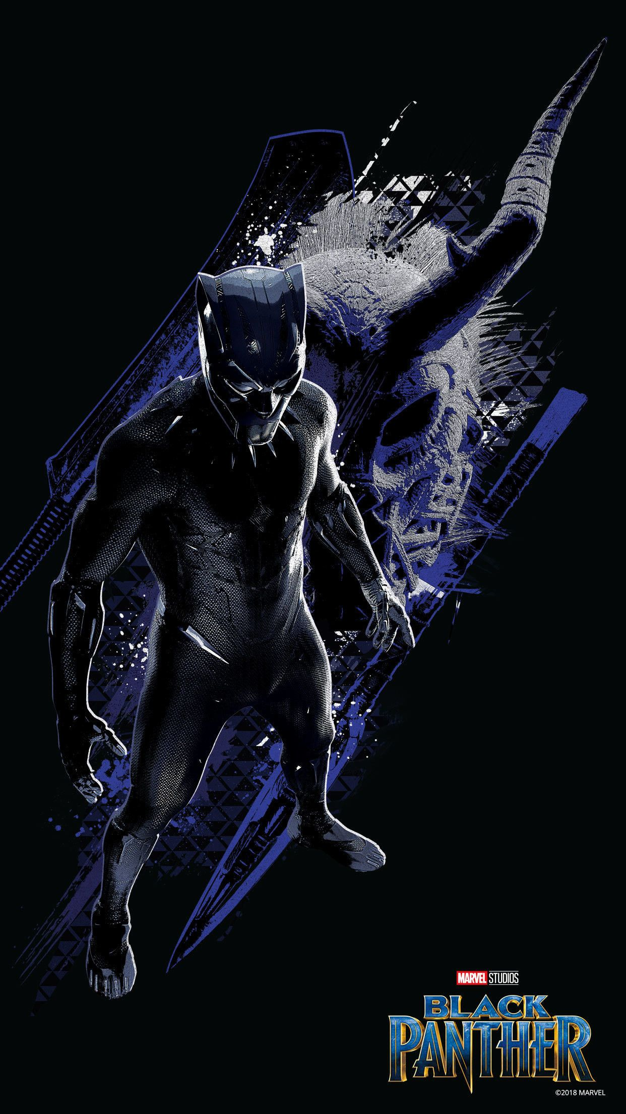 1242x2209 Black Panther Wallpapers (75+ background pictures)