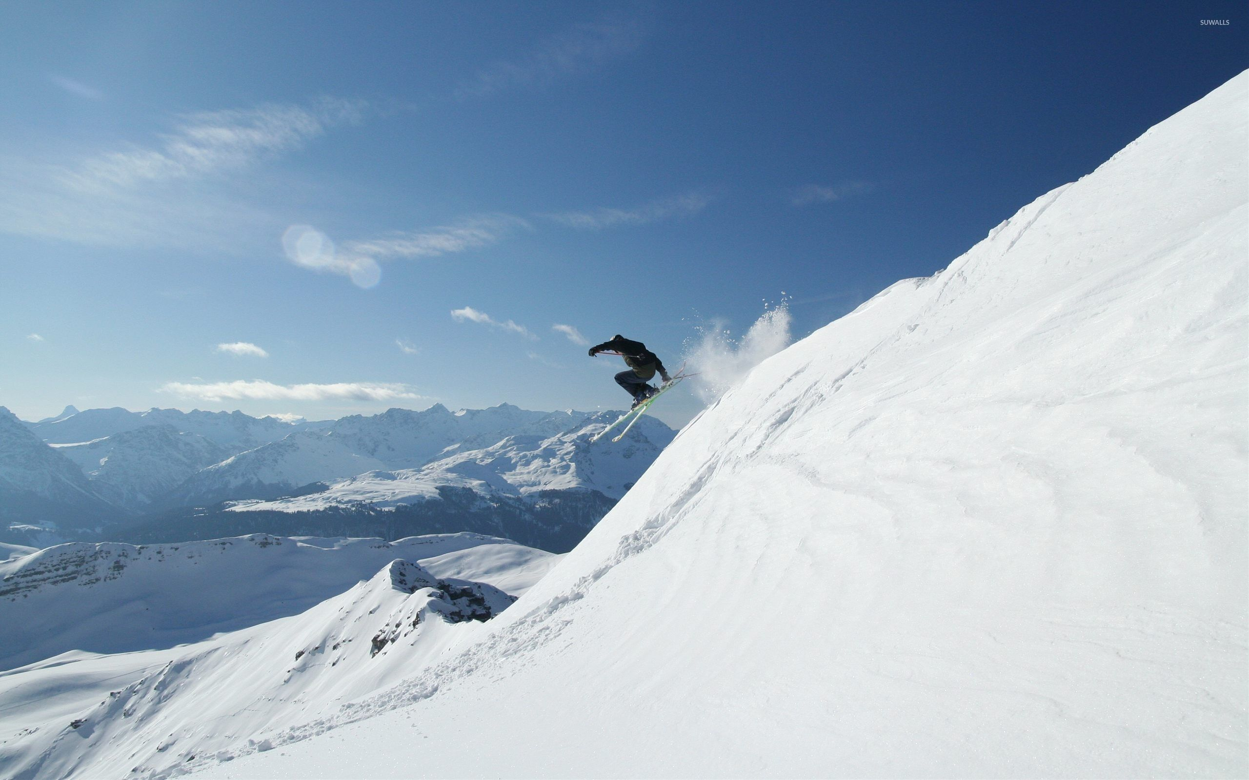 2560x1600 Beautiful day for skiing wallpaper - Nature wallpapers - #44443