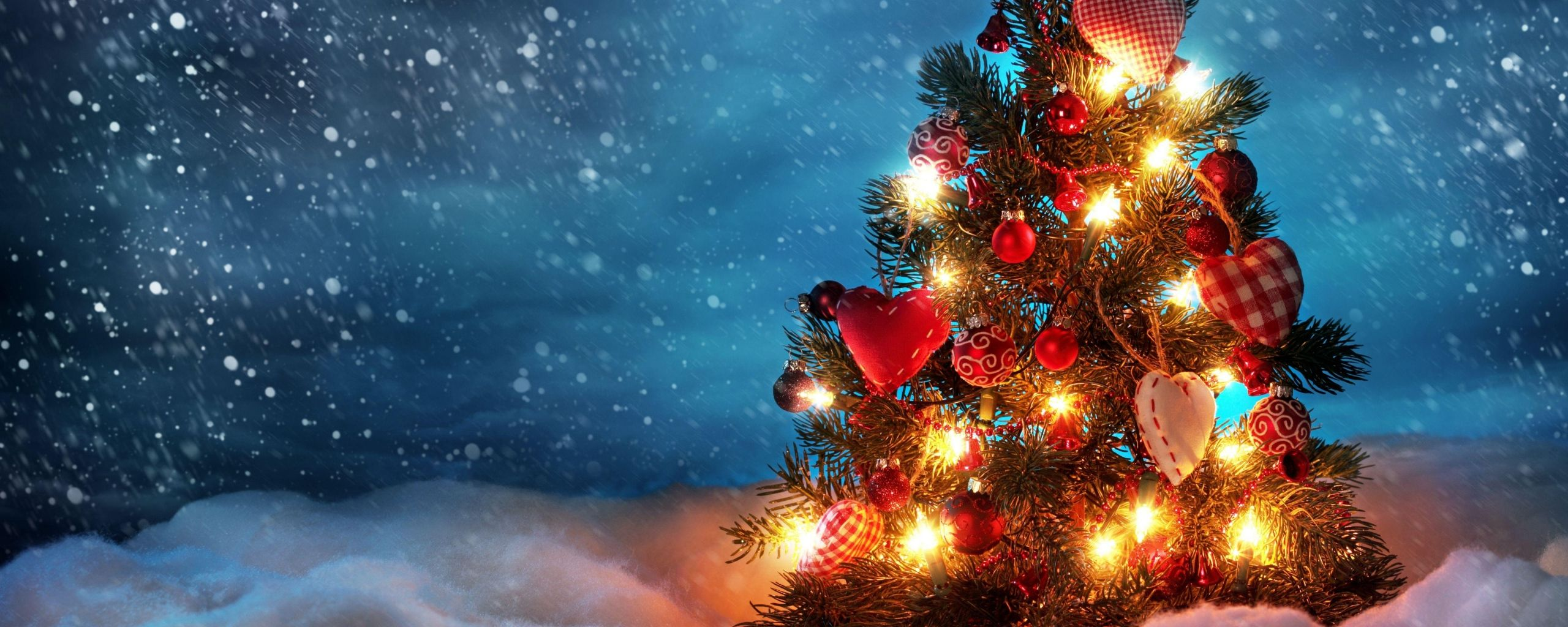 2560x1024 Christmas Wallpaper Dual Monitor – Festival Collections