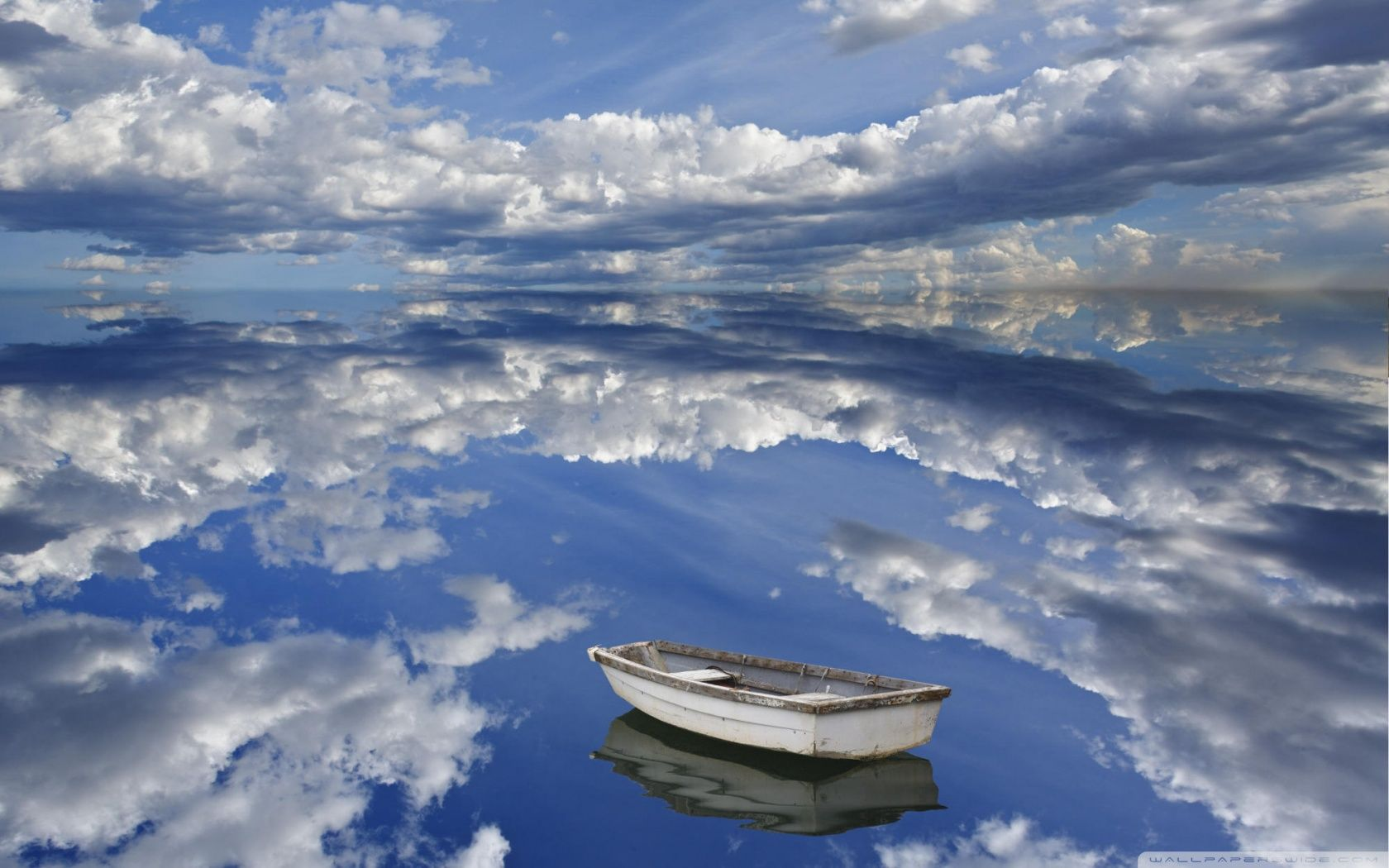 1680x1050 Boat And Clouds Reflecting On Ocean Bar Harbor Maine ❤ 4K HD ...