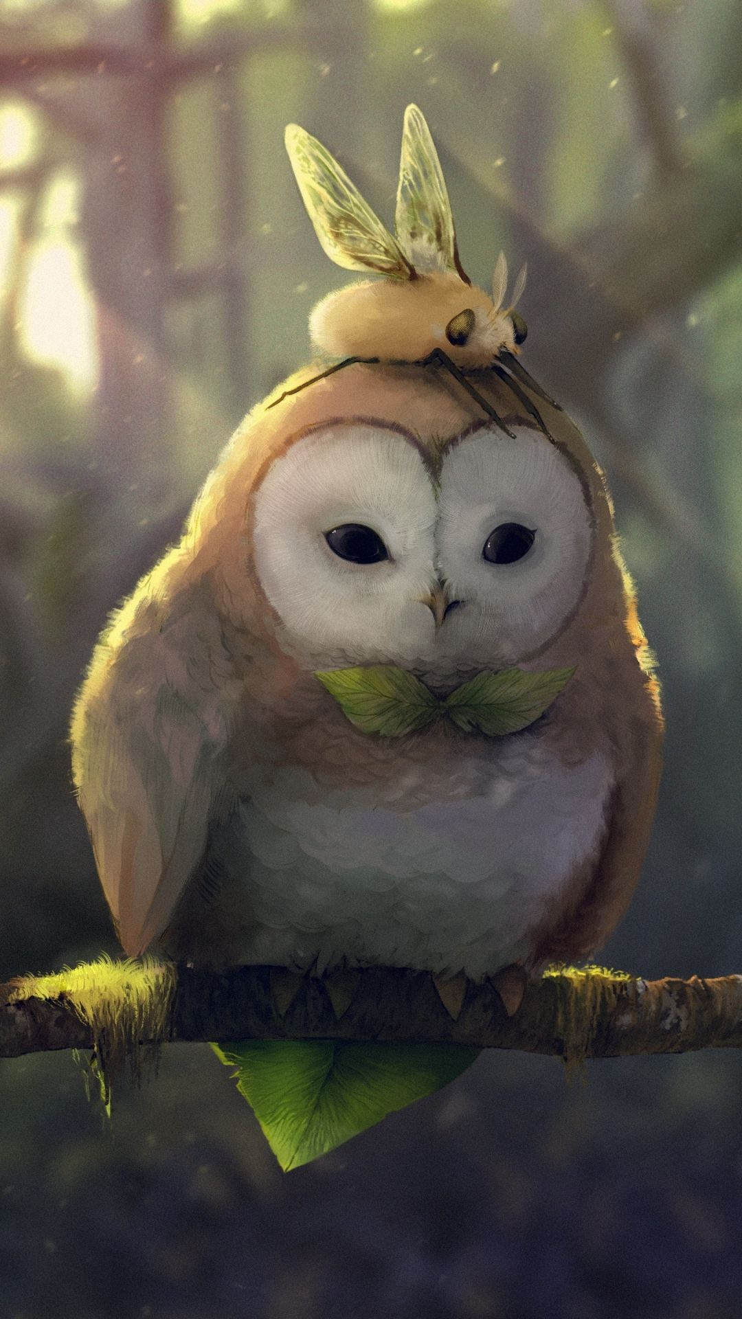 1080x1920 Fantasy / Owl (1080x1920) Mobile Wallpaper | Wallpapers For iPhone ...