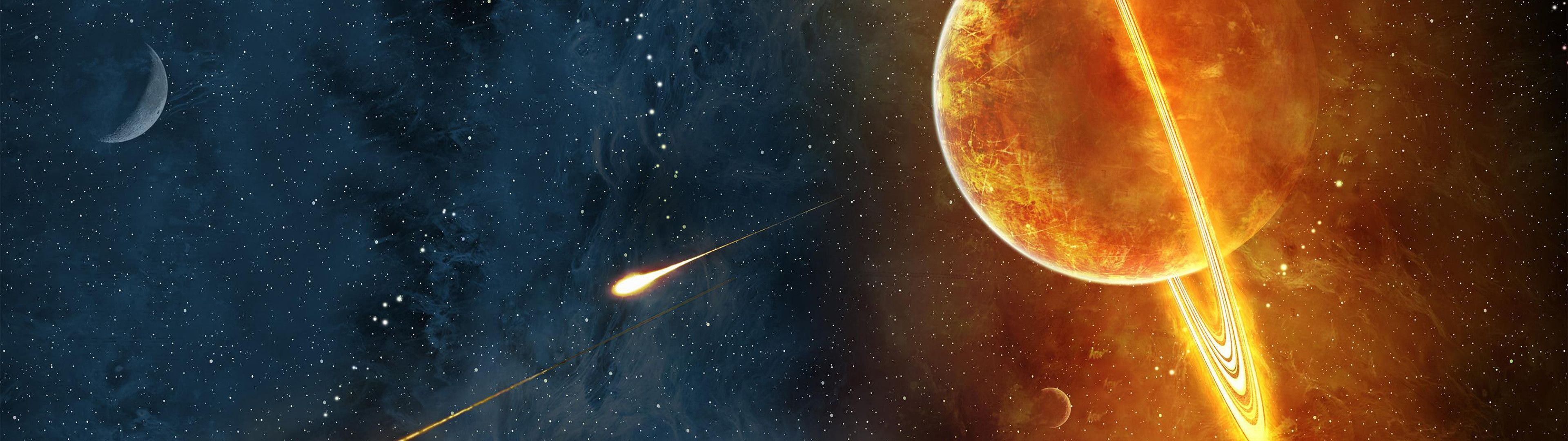 3840x1080 Dual screens | Wallpapers | Pinterest | Outer space, Galaxies and Space