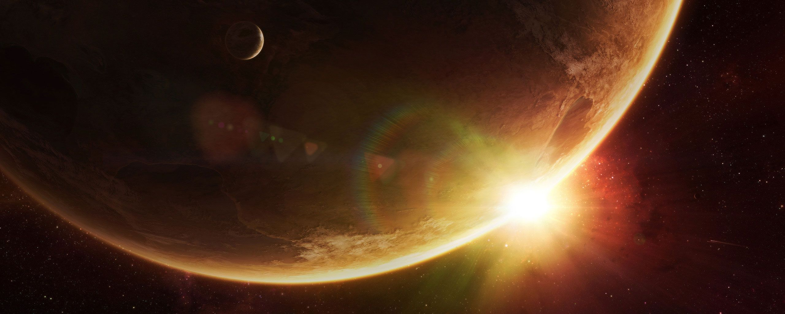 2560x1024 Outer Space Planet Dual Screen Wallpaper | 2560x1024 | ID:45893 ...