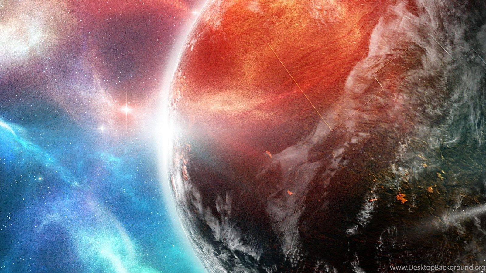 1600x900 Deviantart Artwork Dual Screen Outer Space Planets Spaceships ...
