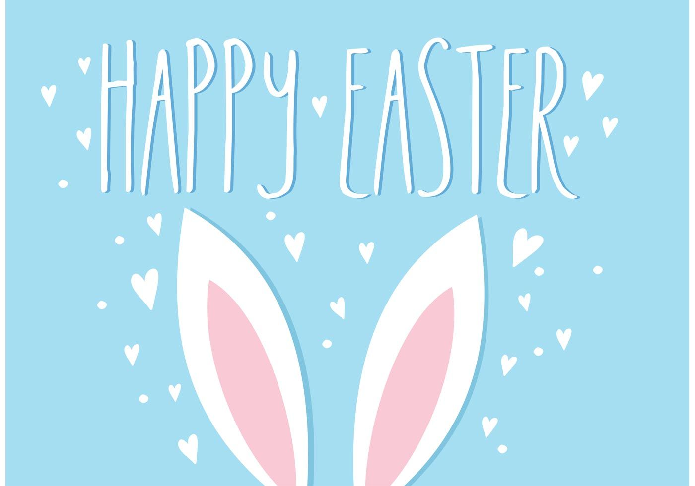 1400x980 Easter Bunny Ears Vector Illustration - Download Free Vector Art ...