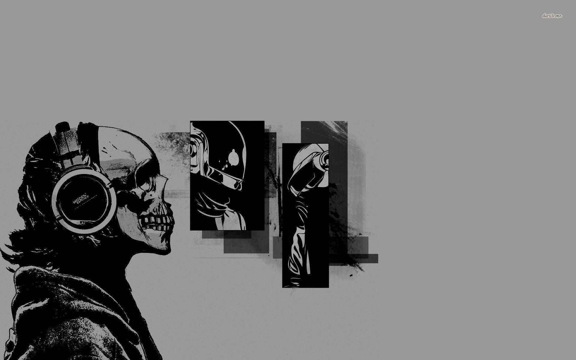 1920x1200 Daft Punk - skull with headphones wallpaper - Music wallpapers - #46003