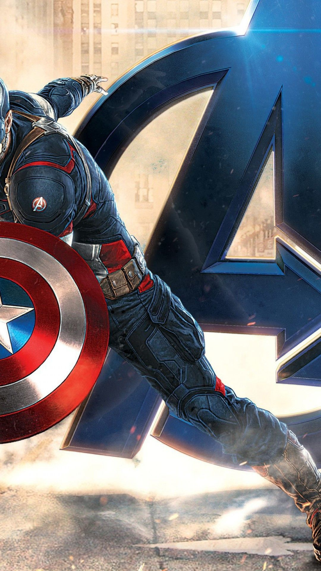 1080x1920 Captain America - Wallpaper - 3D Wallpapers with HD resolution